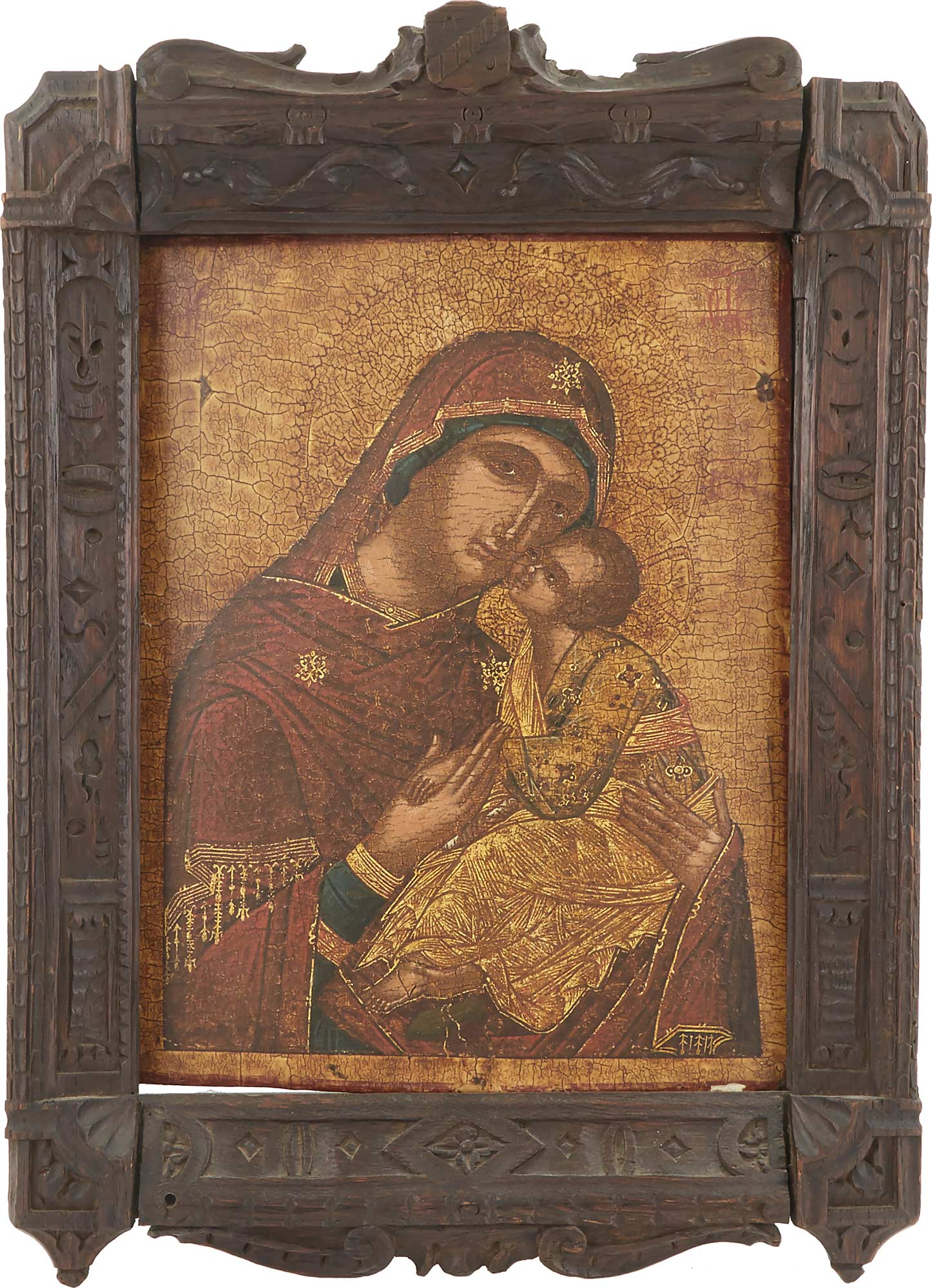 Lot image - Icon of the Mother of God of the Sweet-Kissing