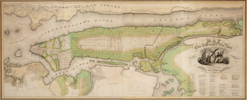 Lot image - BURR, DAVID  Map of the City and County of New York with the Adjacent Country.