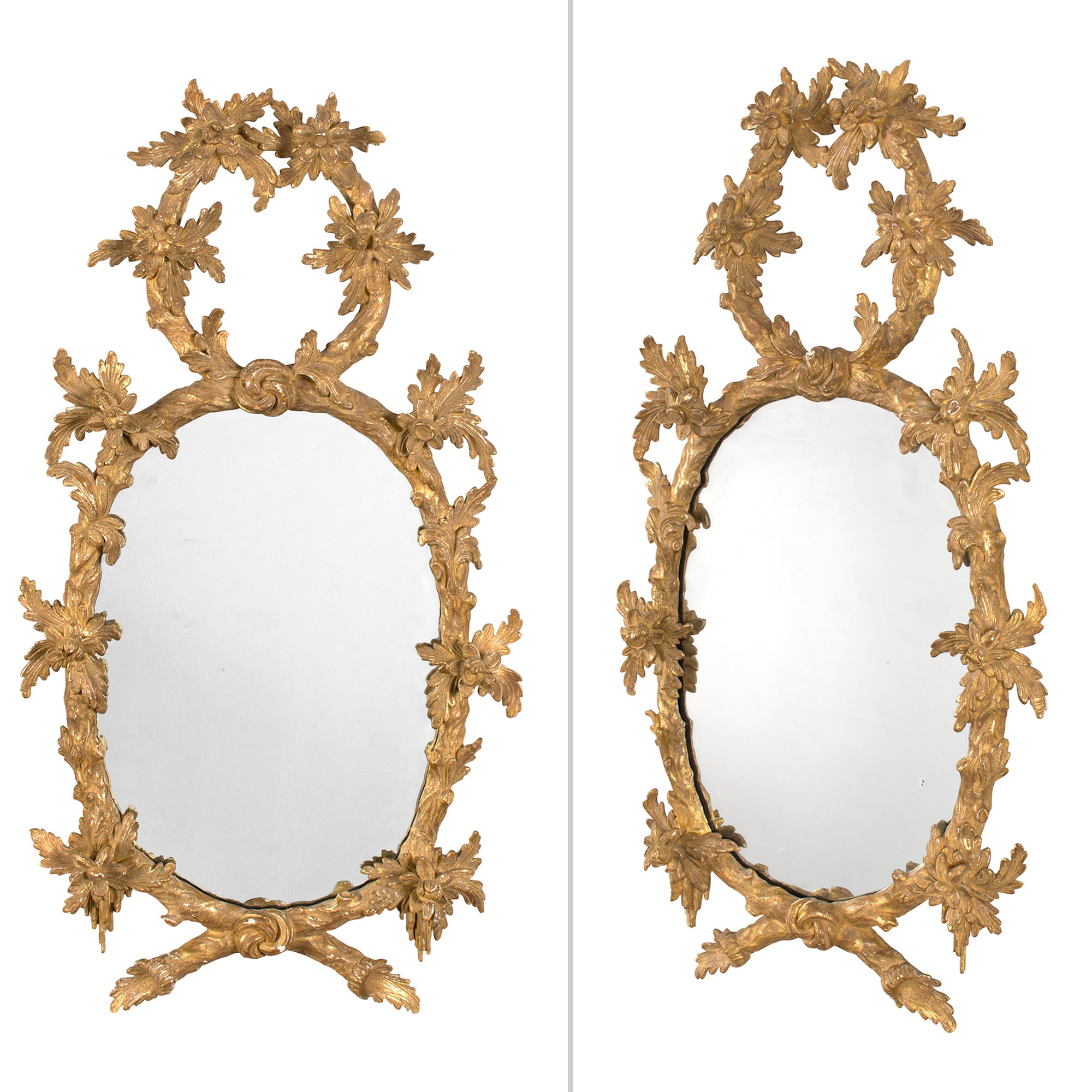 Lot image - Pair of George III Giltwood Mirrors