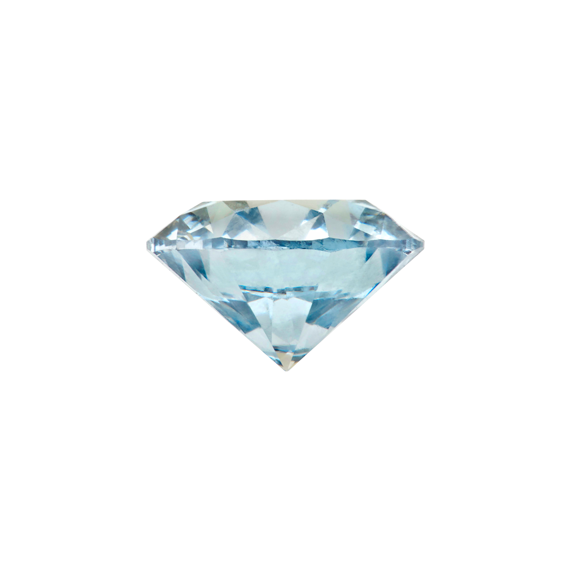 Lot image - Unmounted Fancy Blue Diamond