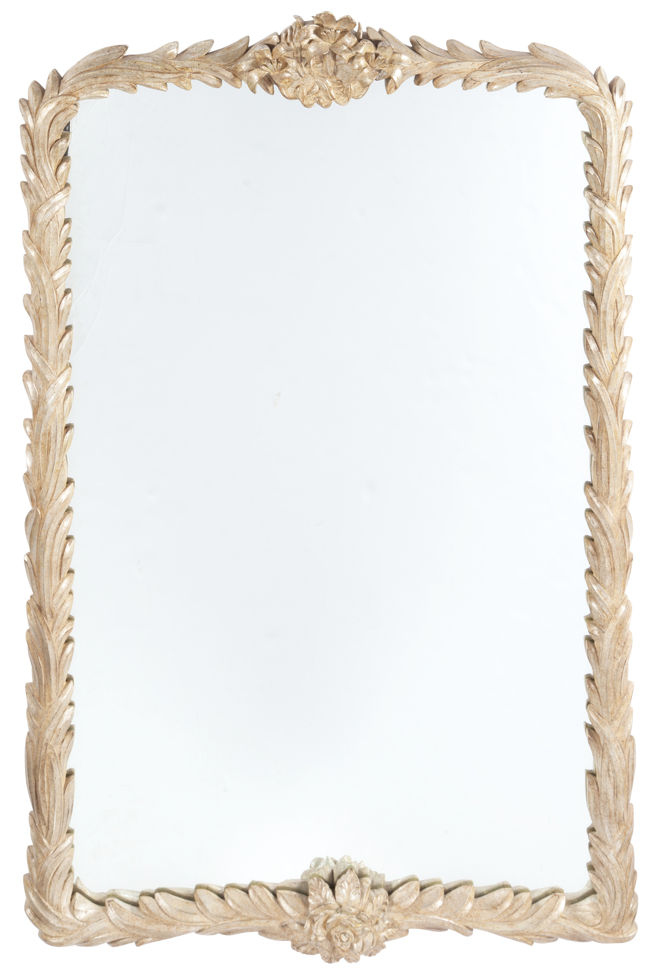 Lot image - Silvered Leaf Carved Mirror