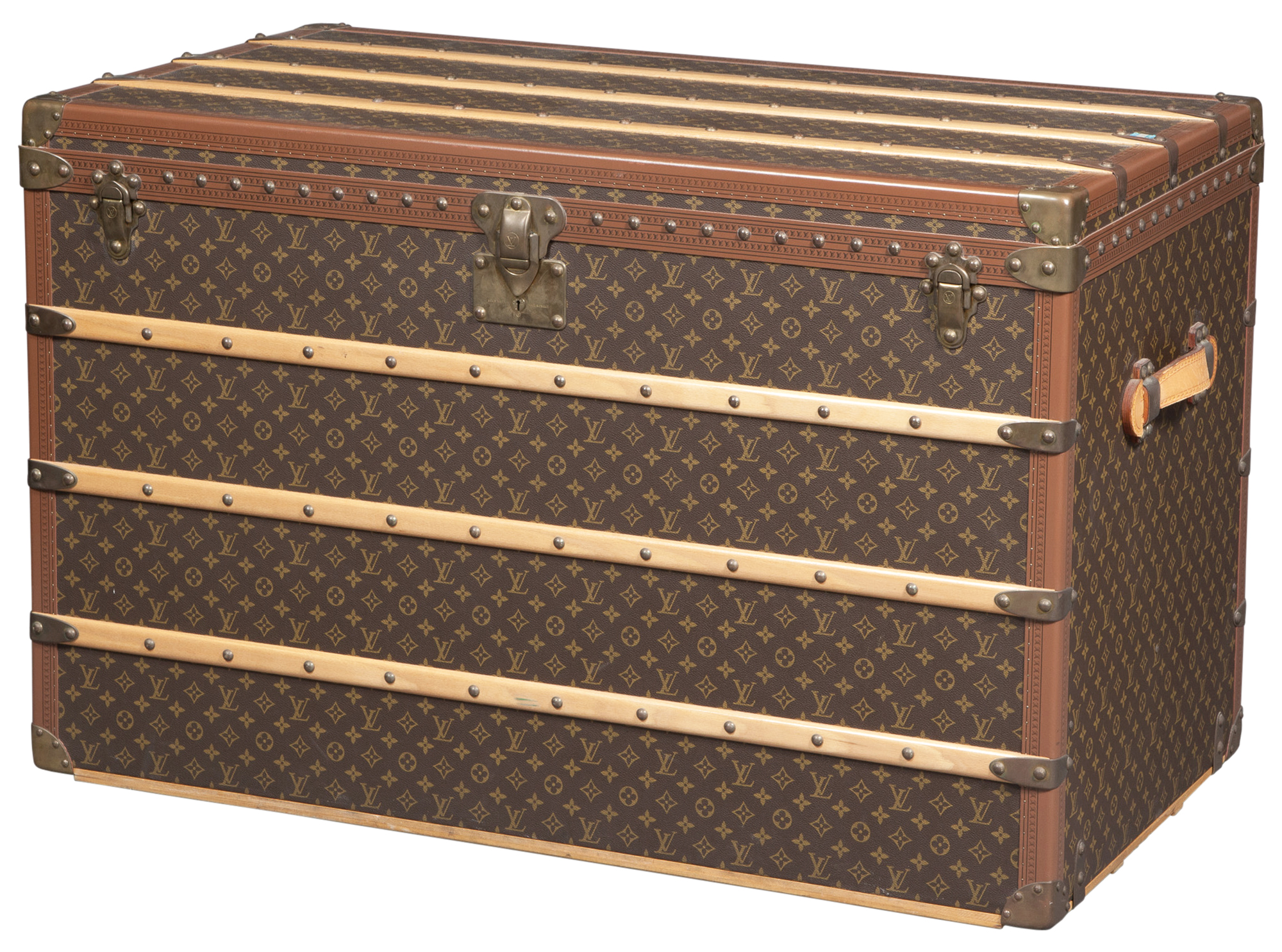 Lot image - Louis Vuitton Leather Trunk