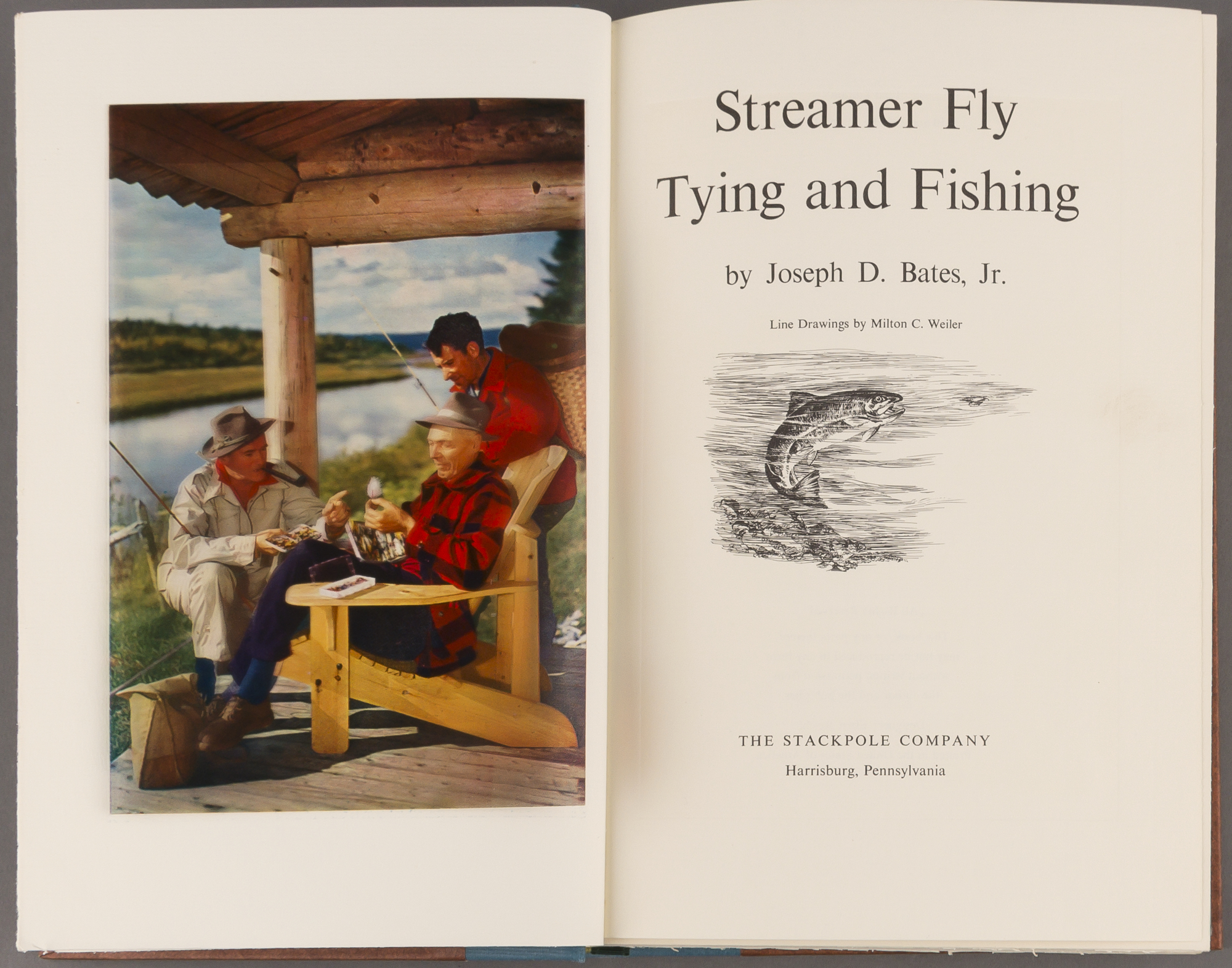 Lot image - BATES, Jr., JOSEPH D.  Streamer Tie Flying and Fishing.