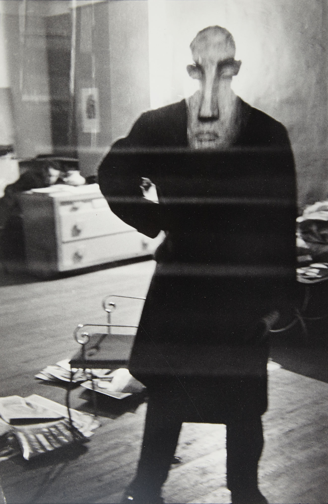 Lot image - FAURER, LOUIS (1916-2001)  George Barrows in Robert Franks Loft, NYC,