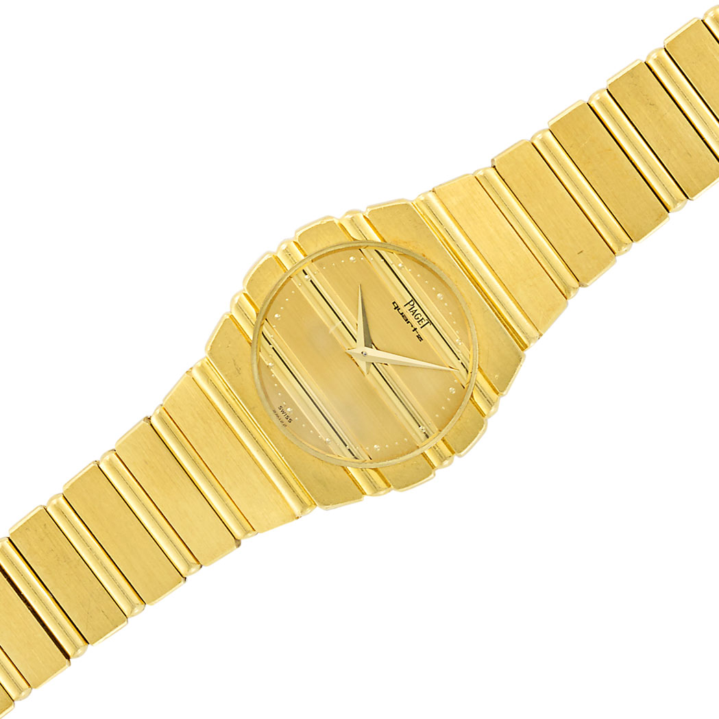 Lot image - Gold Polo Wristwatch, Piaget