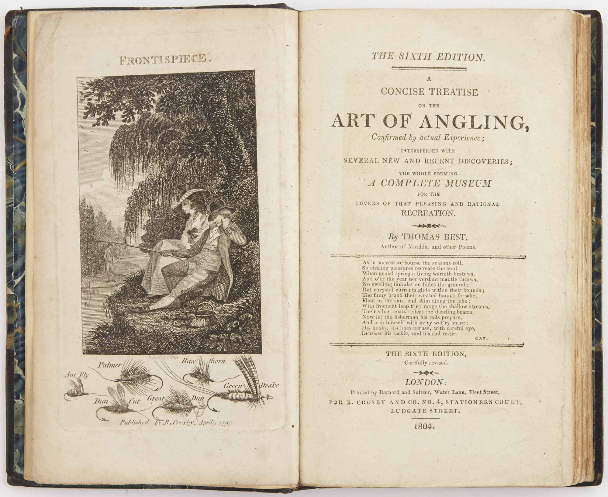 Lot image - BEST, THOMAS  A Concise Treatise on the Art of Angling.