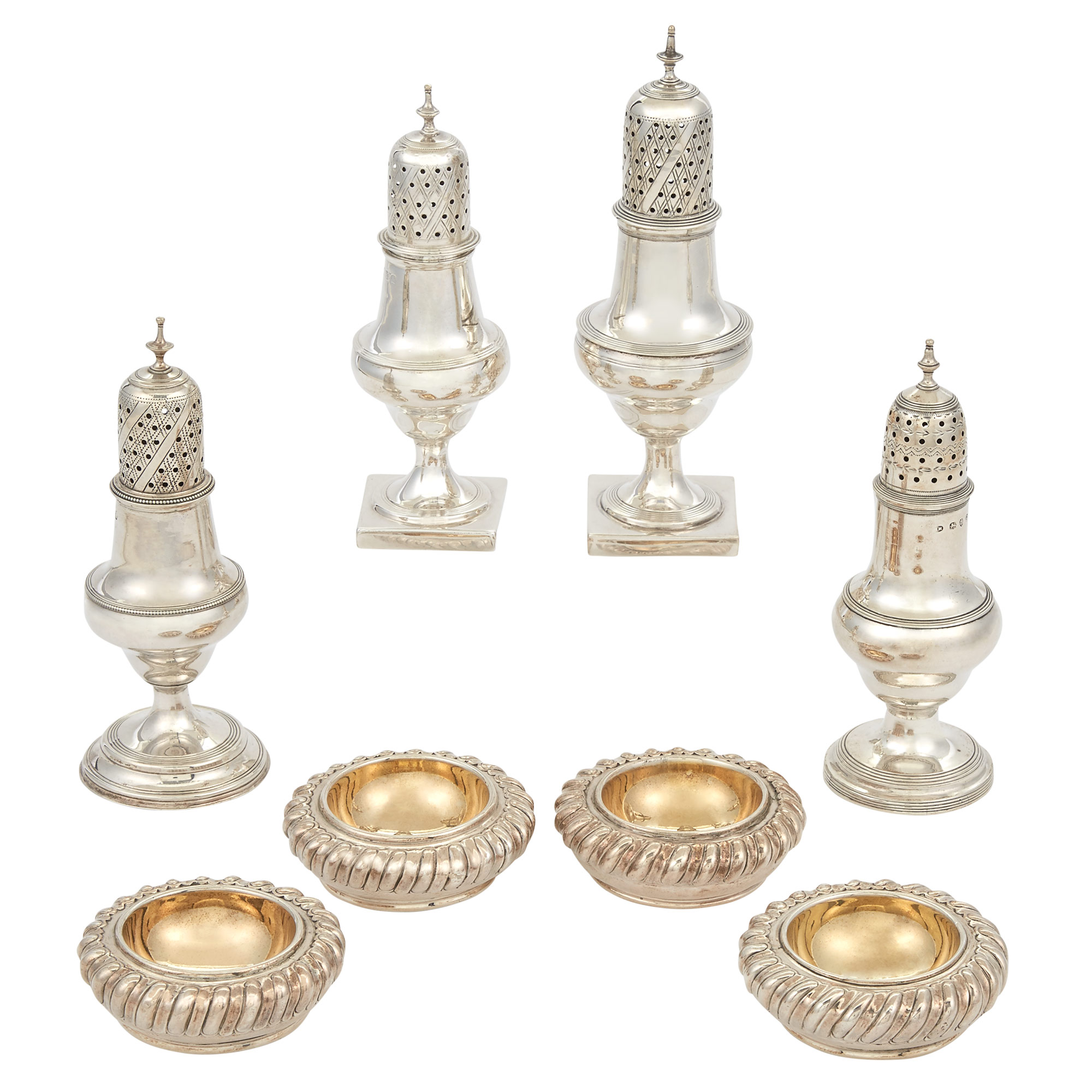 Lot image - Set of Four George IV Sterling Silver Open Salts