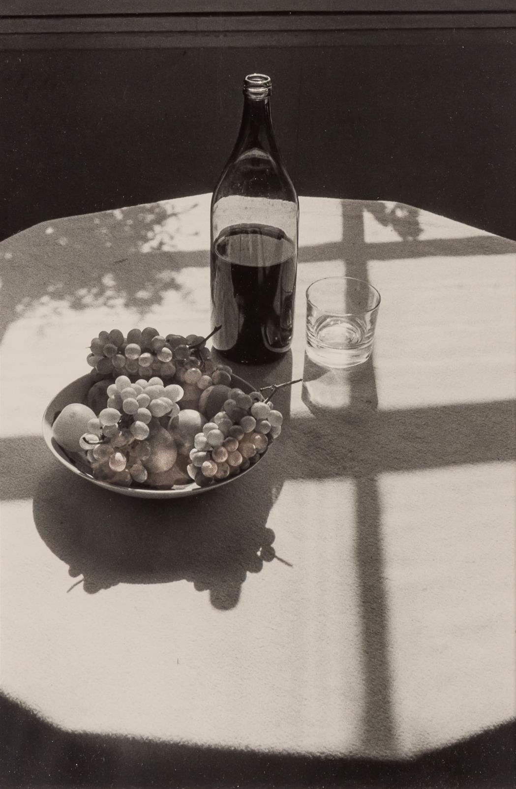 Lot image - RAYMOND, LILO (1922-2009)  [Table, Rome: still Life with grapes and wine glass,
