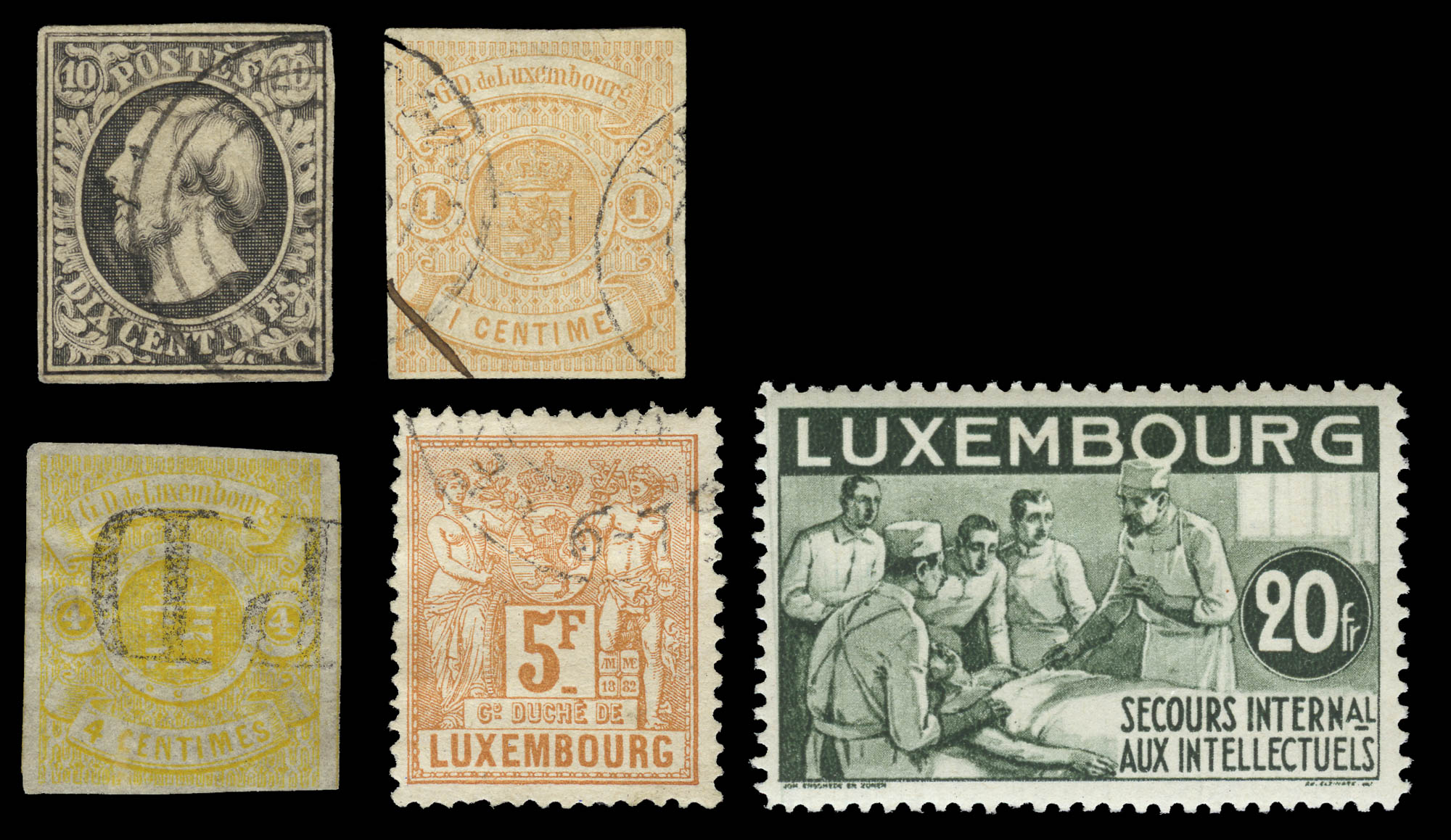 Lot image - Luxembourg 1852-1984 Postage Stamp Collection