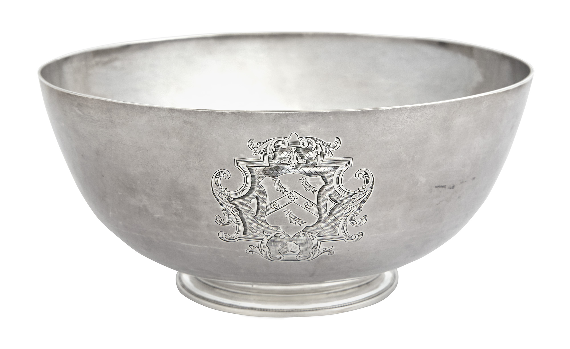 Lot image - George II Sterling Silver Footed Bowl