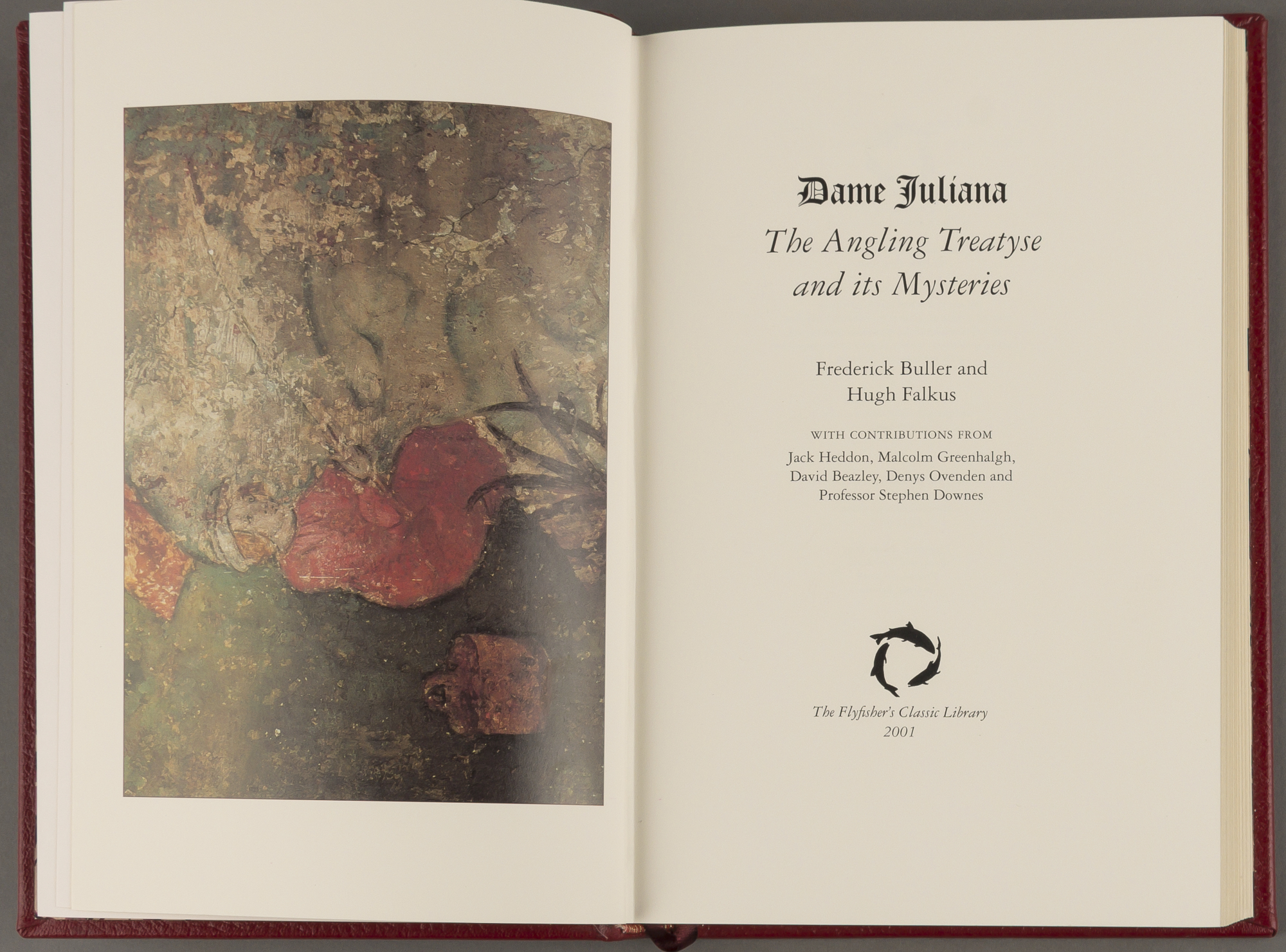 Lot image - BULLER, FREDERICK AND FALKUS, HUGH  Dame Juliana: The Angling Treatyse and its Mysteries.