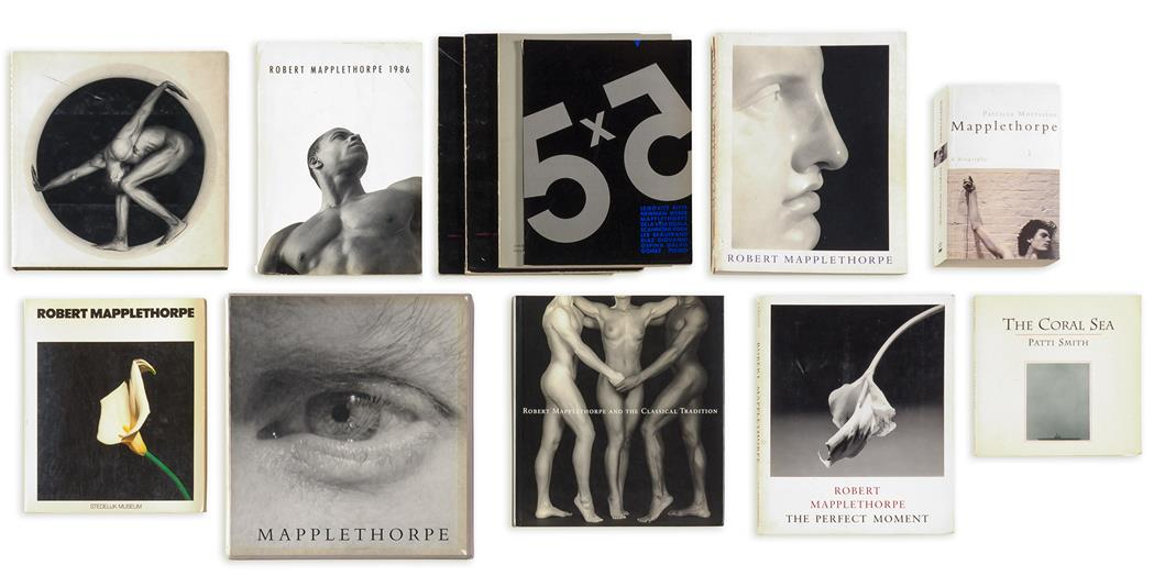 Lot image - MAPPLETHORPE, ROBERT (1946-1989)  One inscribed volume and twelve other books on the artist.