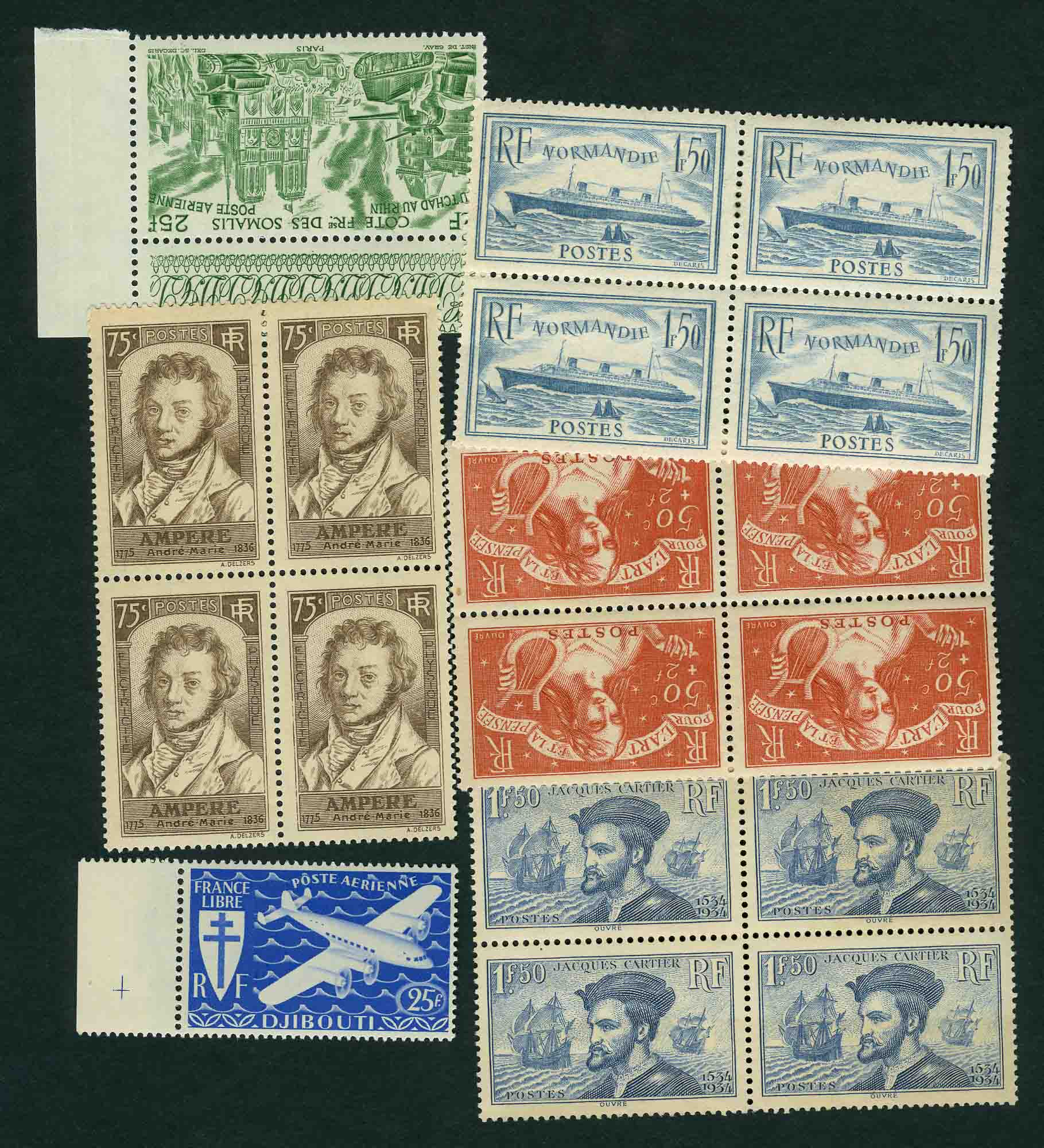 Lot image - France Mint Postage Stamp Group