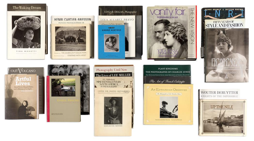 Lot image - [PHOTOGRAPHIC LITERATURE]  Reference library of approximately one hundred volumes assembled by Anne Horton.