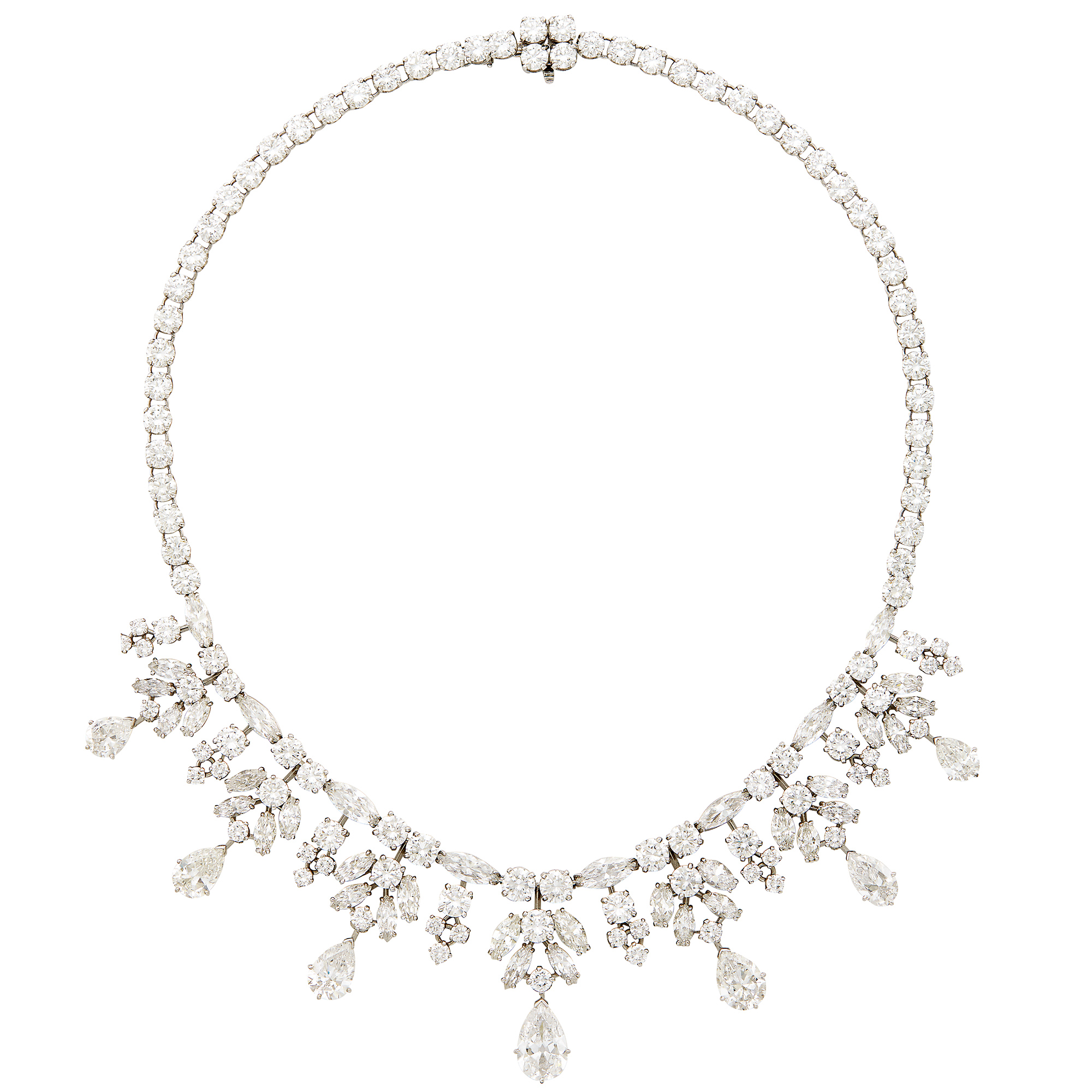 Lot image - Platinum and Diamond Necklace, Van Cleef & Arpels