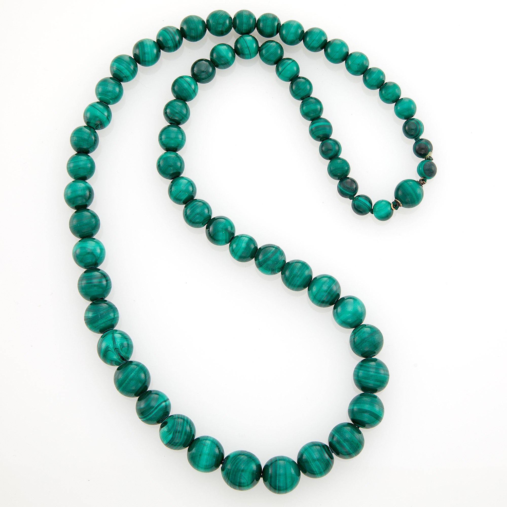 Lot image - Malachite Bead Necklace