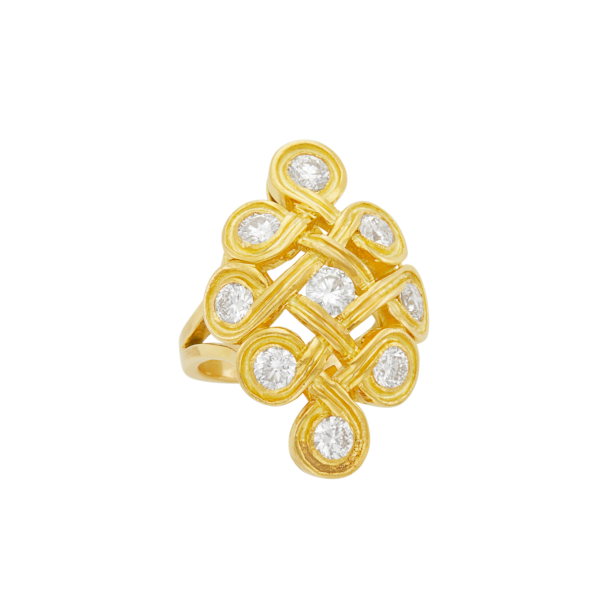 Lot image - Gold and Diamond Ring, Ilias Lalaounis