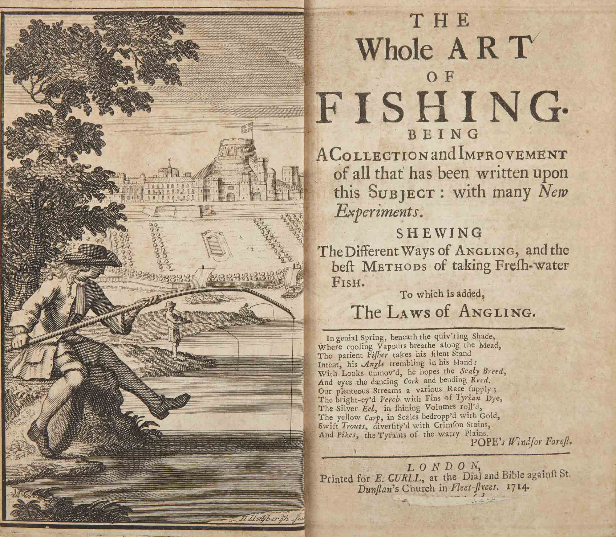 Lot image - [ANGLING]  The Whole Art of Fishing; Being a Collection and Improvement of All that Has Been Written upon This Subject, with Many New Experiments To which Is Added the Laws of Angling.