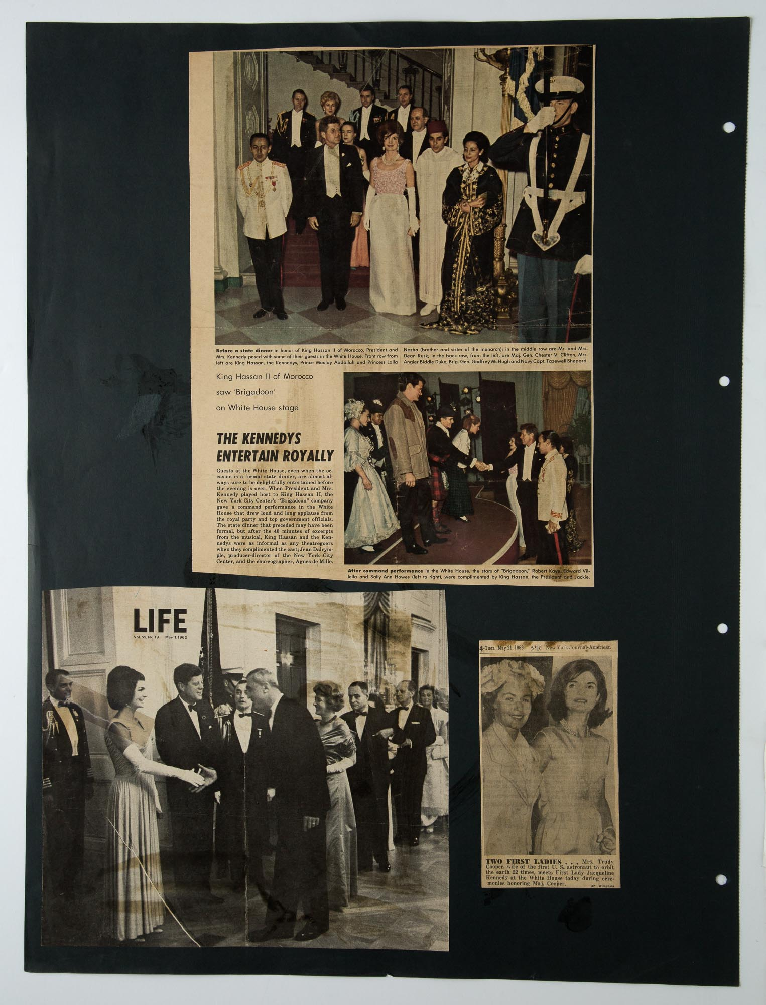 Lot image - [CASSINI-CAREER]  Large group of oversized albums of press clippings and ephemera related to Cassinis career.