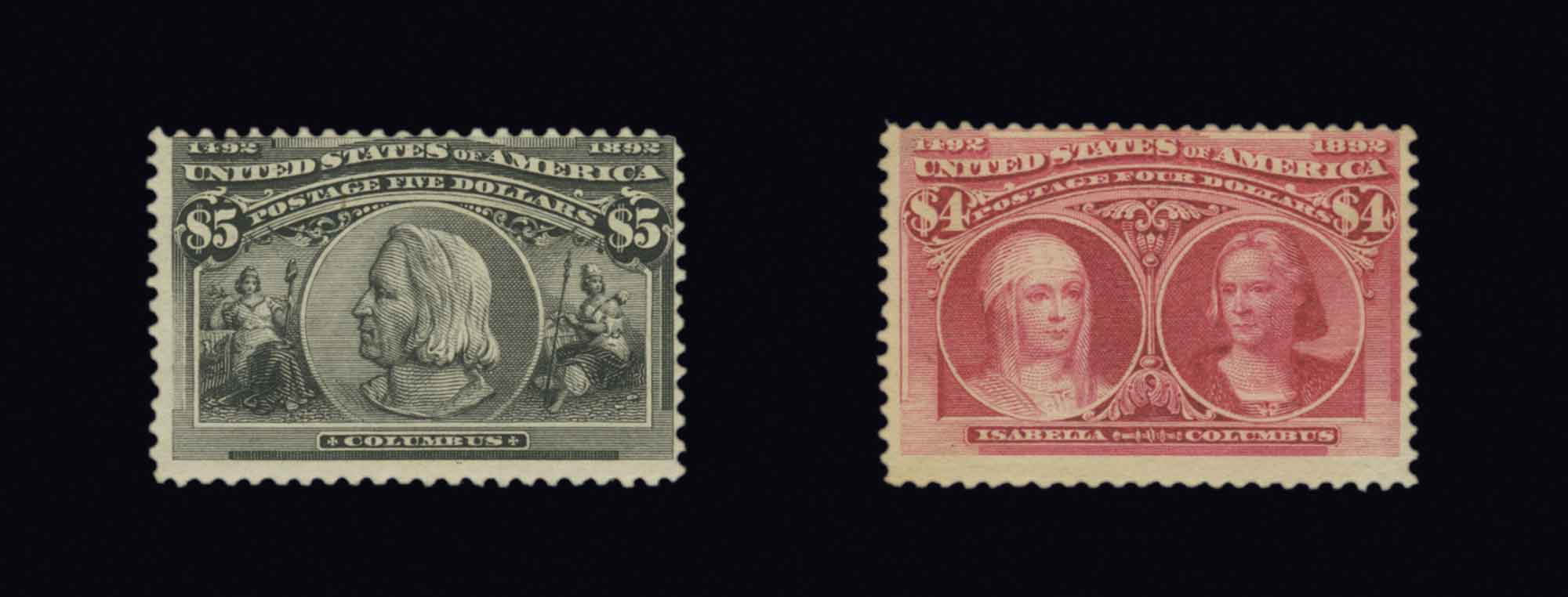Lot image - United States 1893 Columbian One Cent to Five Dollars