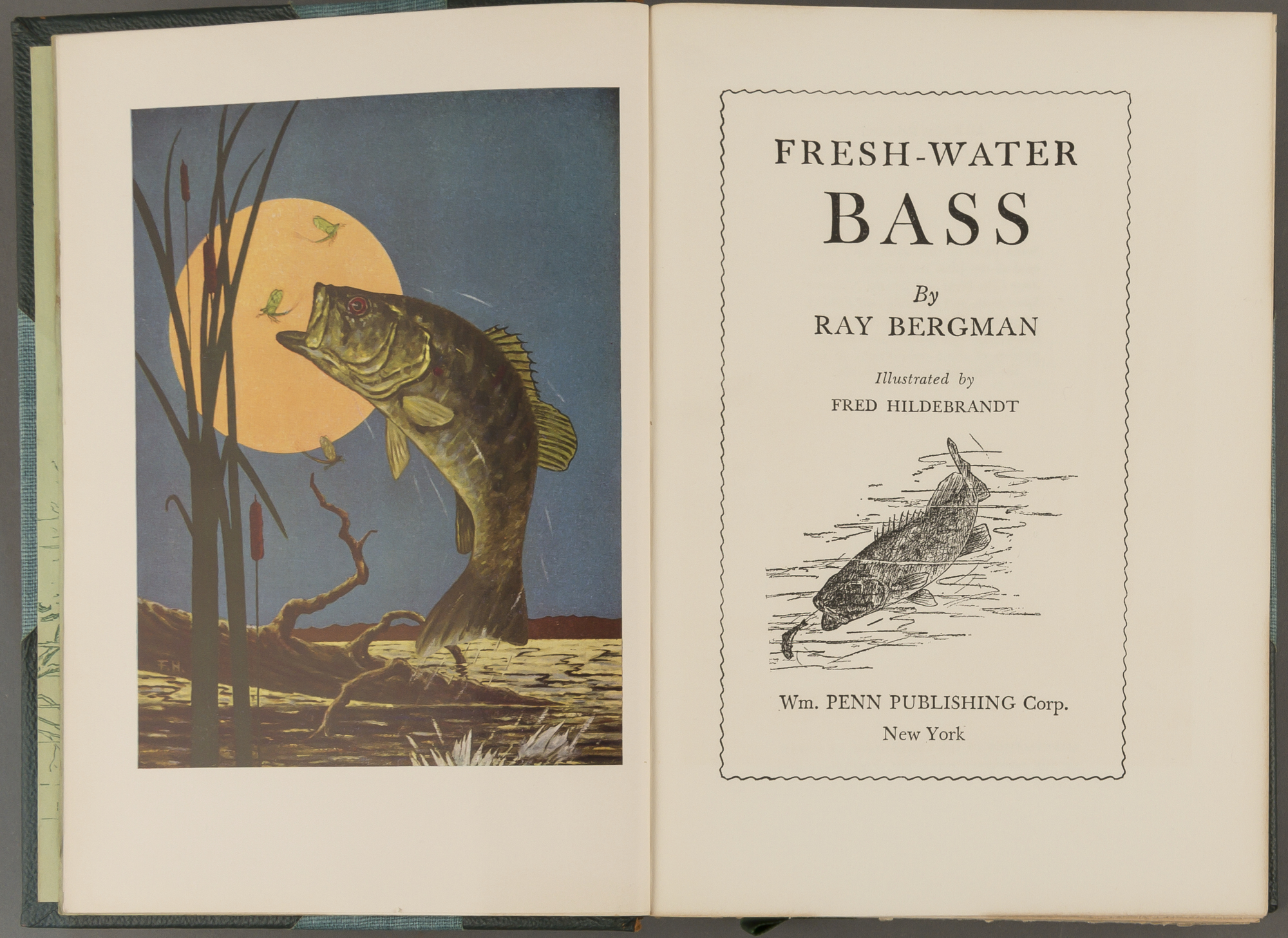 Lot image - BERGMAN, RAY  Fresh-Water Bass.