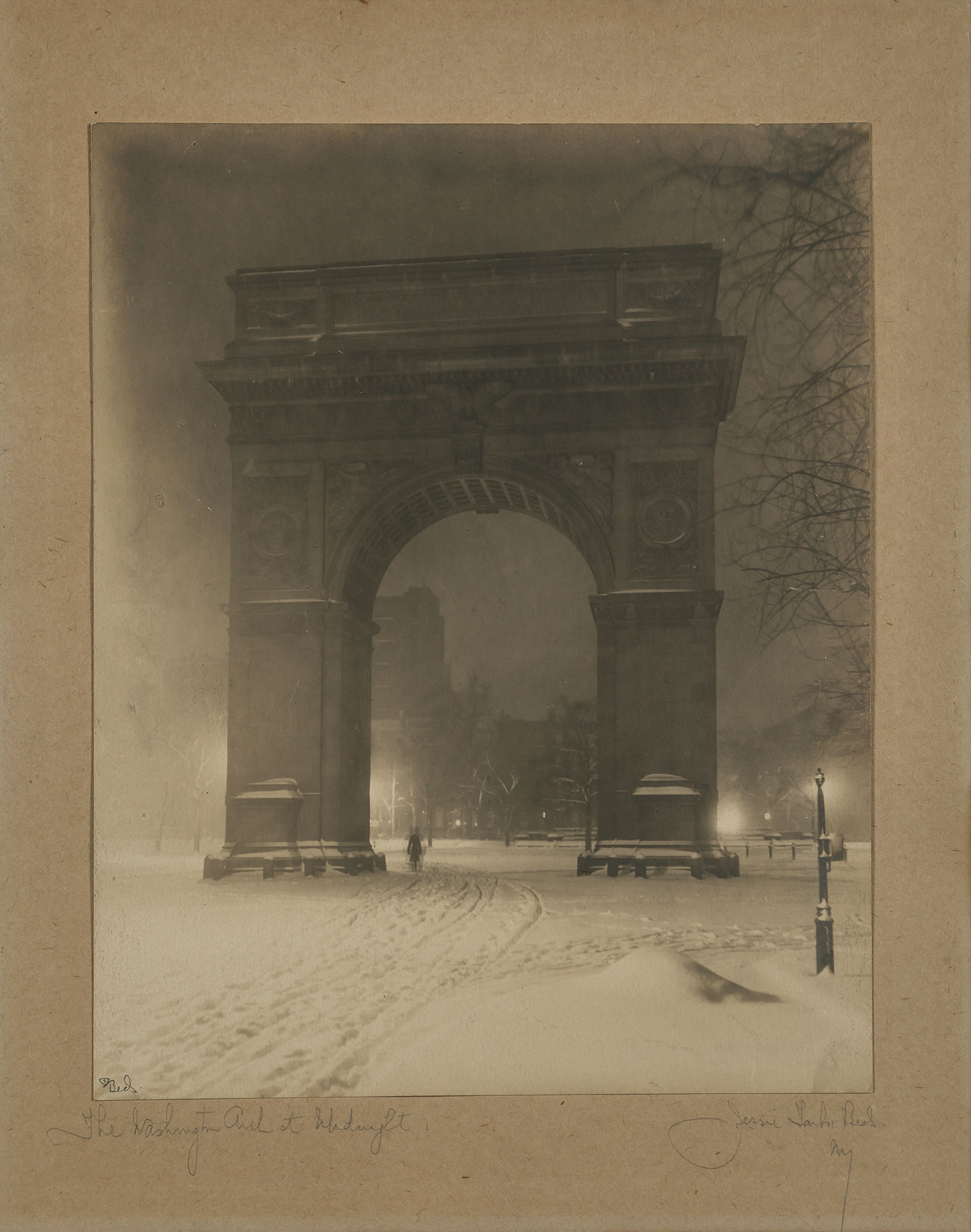 Lot image - BEALS, JESSIE TARBOX (1871-1942)  The Washington Arch at Midnight