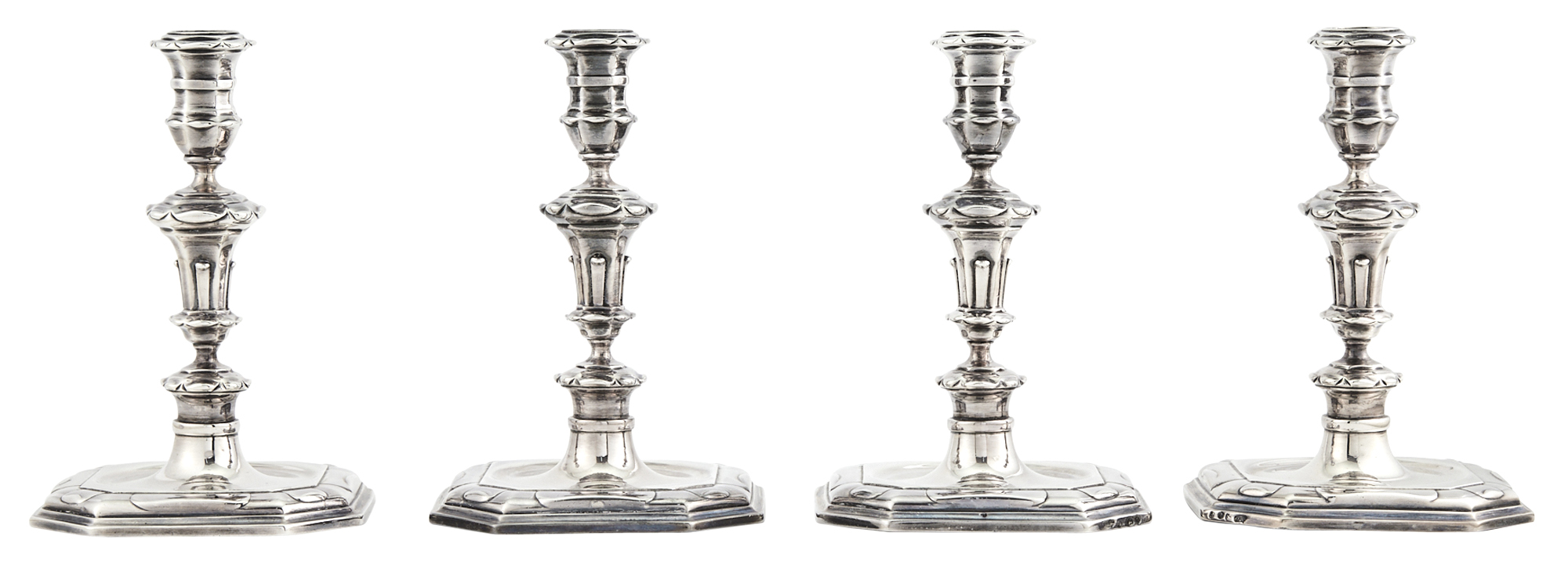 Lot image - Set of Four Dutch Silver Candlesticks
