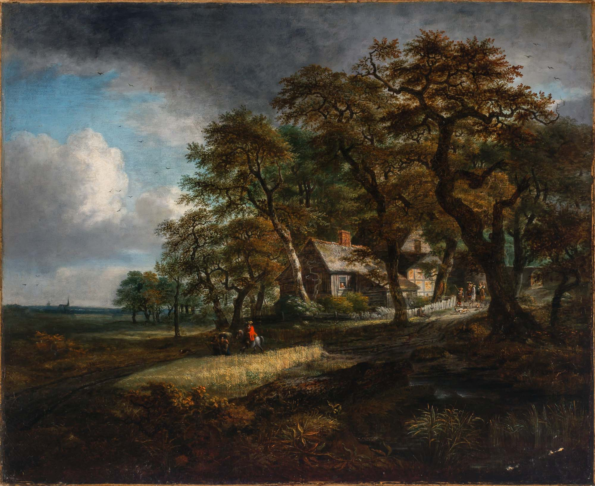 Lot image - Follower of Meindert Hobbema