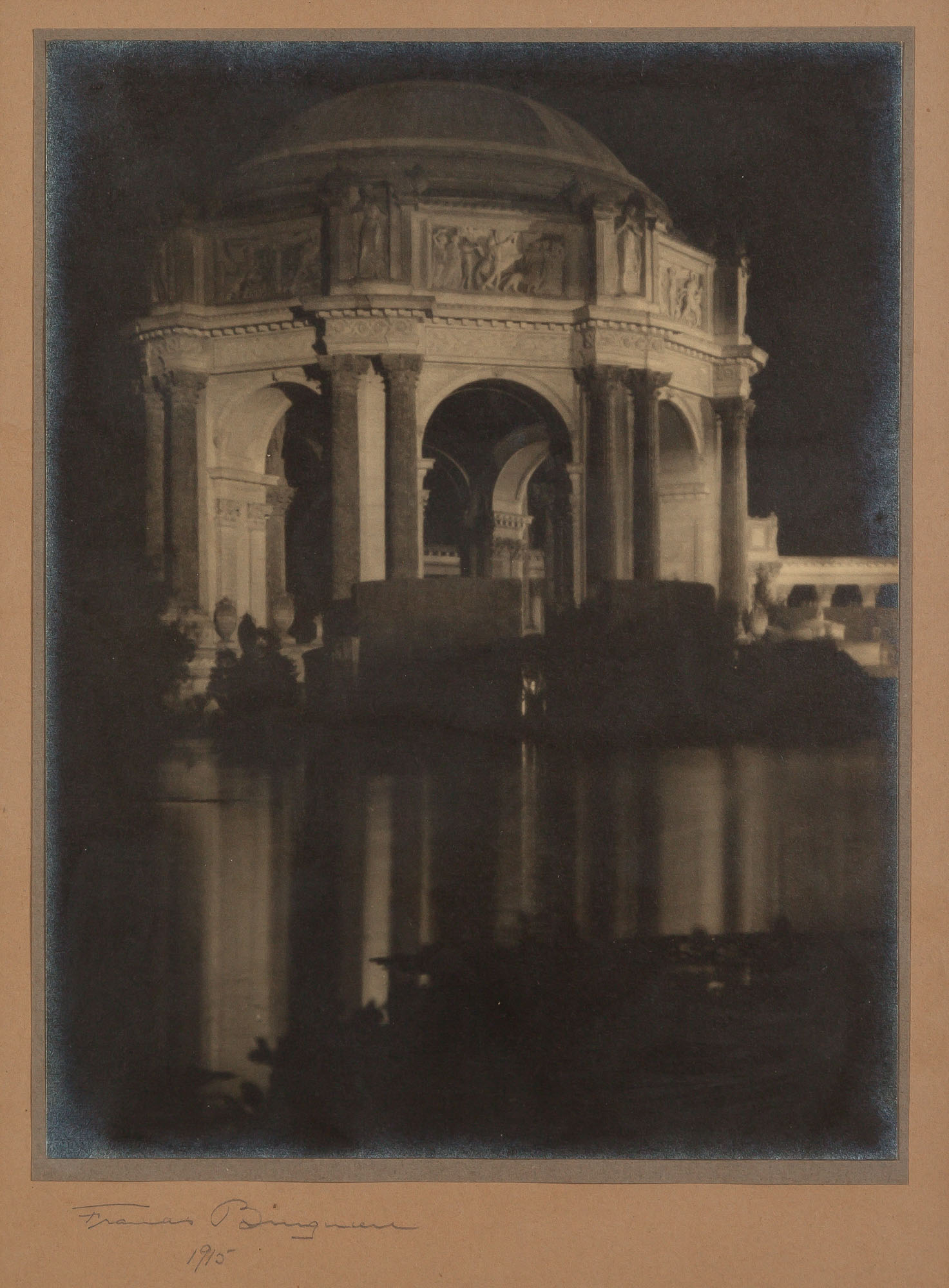 Lot image - BRUGUIÈRE, FRANCIS JOSEPH (1879-1945)  The Rotunda, [The Palace of] Fine Arts, [San Francisco],