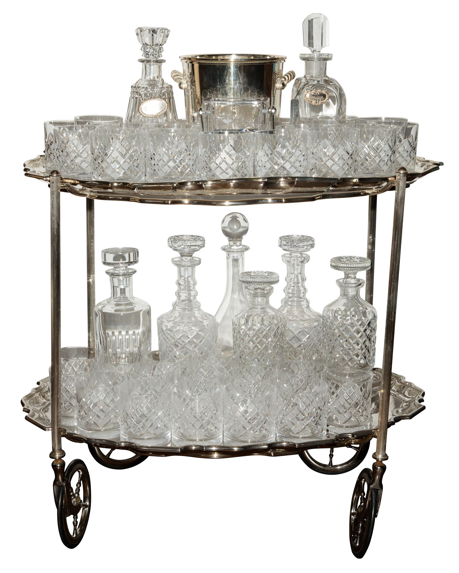 Lot image - Group of Cut Glass and Other Barware