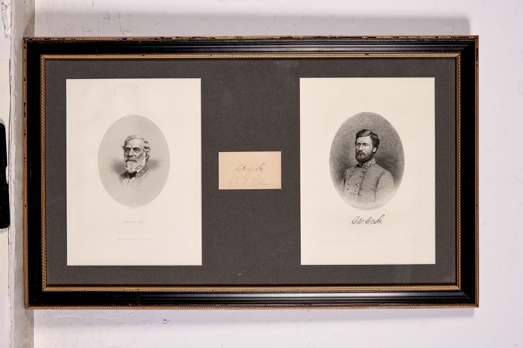 Lot image - LEE, ROBERT E. & LEE, GEORGE WASHINGTON CUSTIS  Sheet signed.