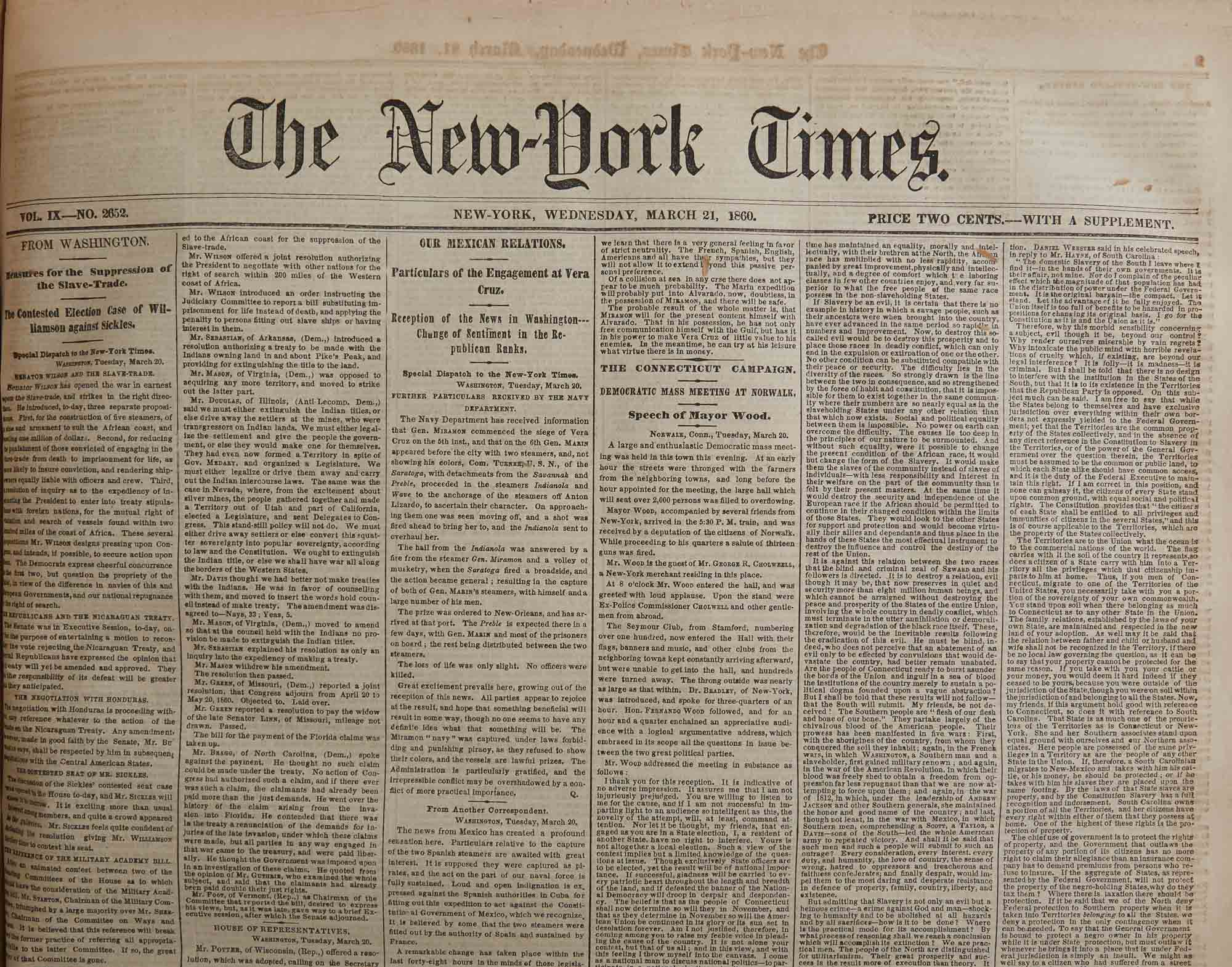 Lot image - [CIVIL WAR - NEW YORK TIMES]  Bound issues of the New York Times.
