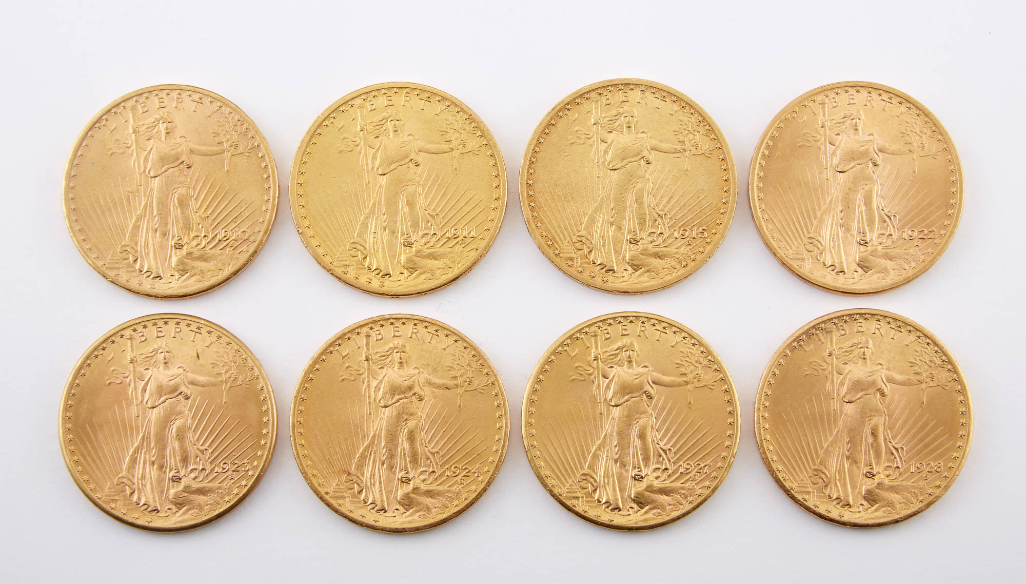 Lot image - United States St. Gaudens Group of Eight