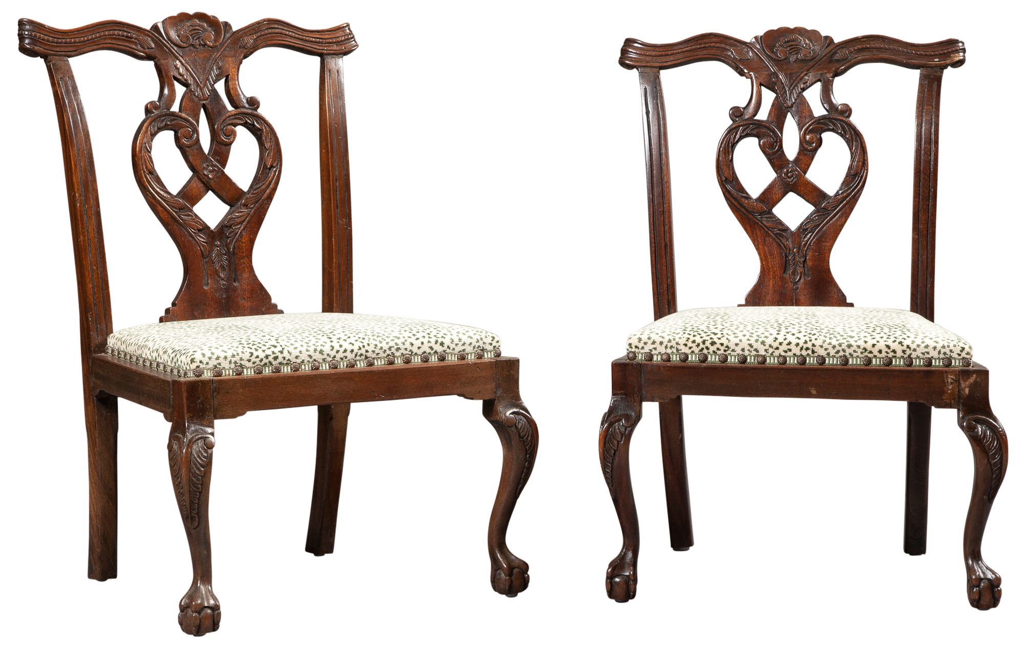 Lot image - Pair of George II Style Mahogany Childs Chairs
