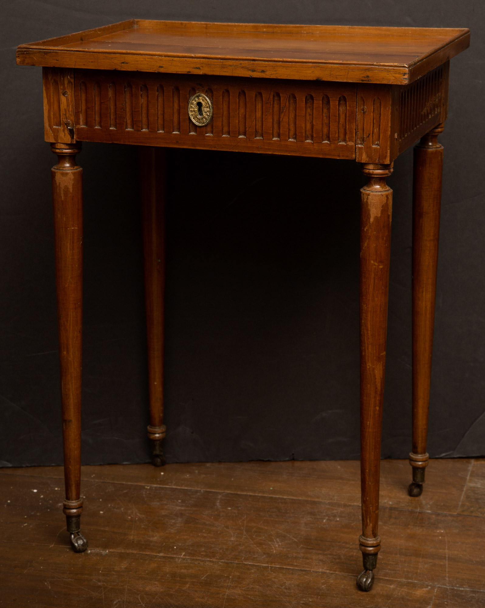 Lot image - Louis XVI Style Fruitwood Occasional Table