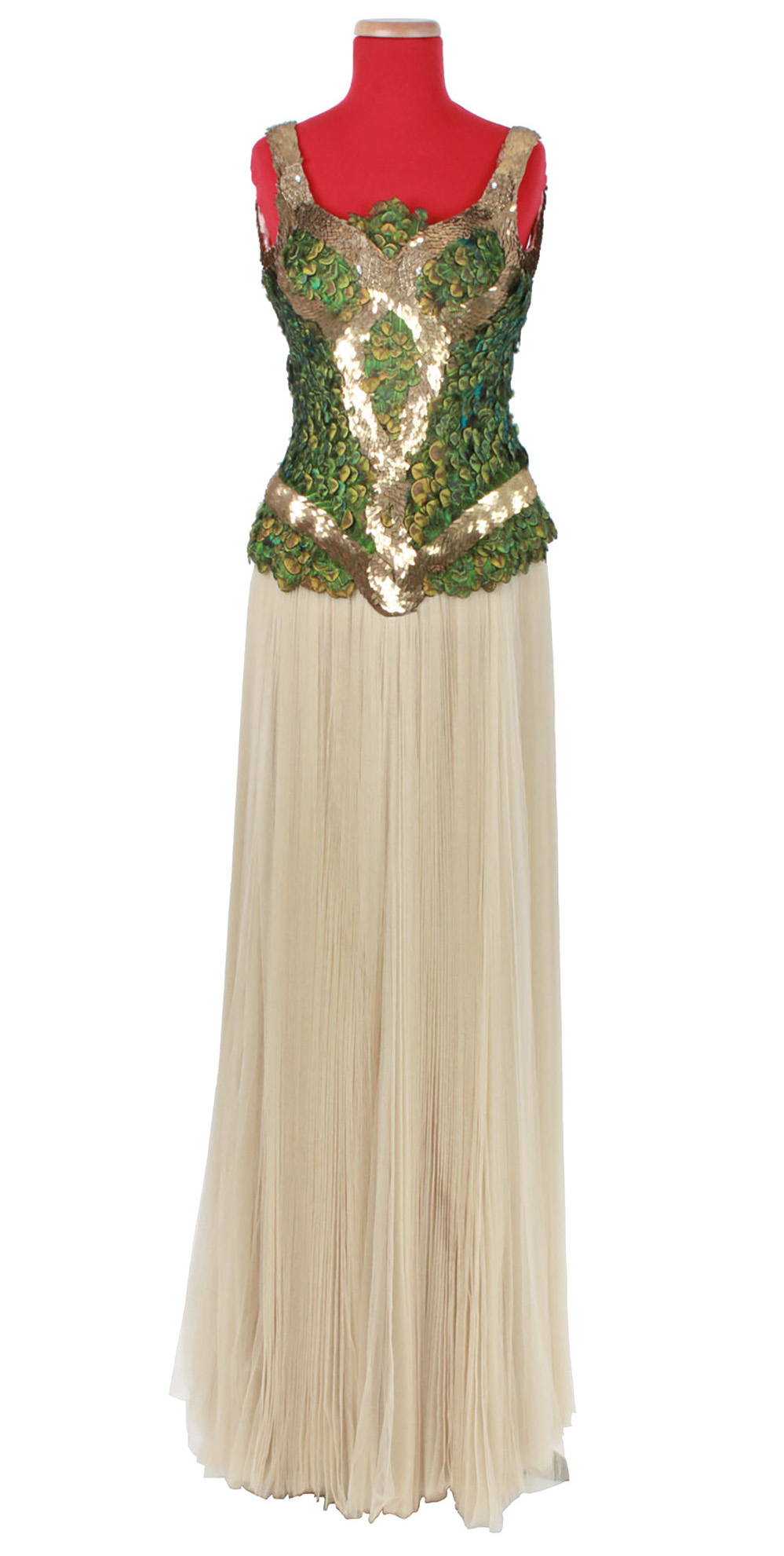 Lot image - Peacock Feather Gown, In Memory of Elizabeth Howe, Fall-Winter 2007