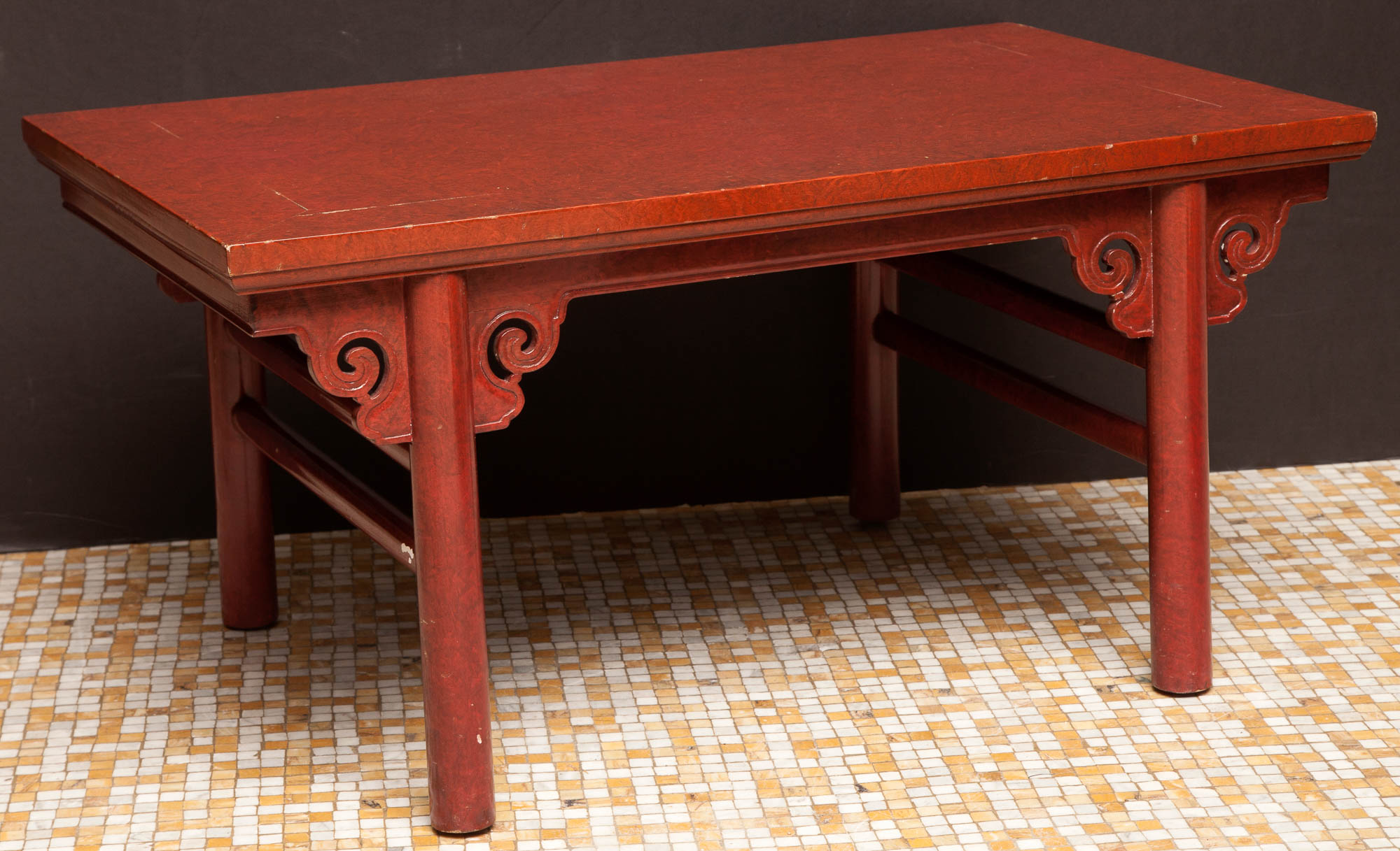 Lot image - Chinese Style Faux Finish Lacquered Low Table