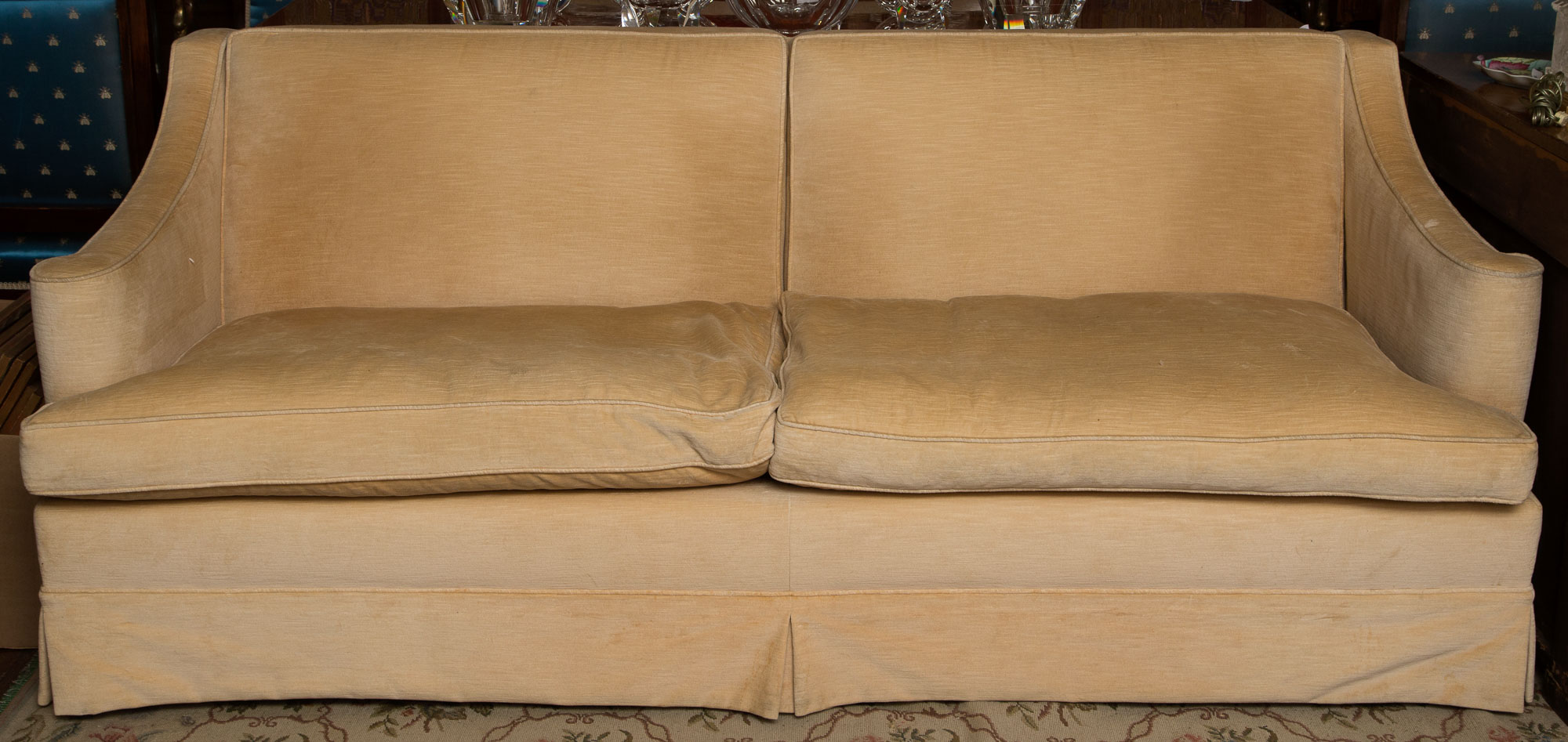 Lot image - Pair of Upholstered Sofas