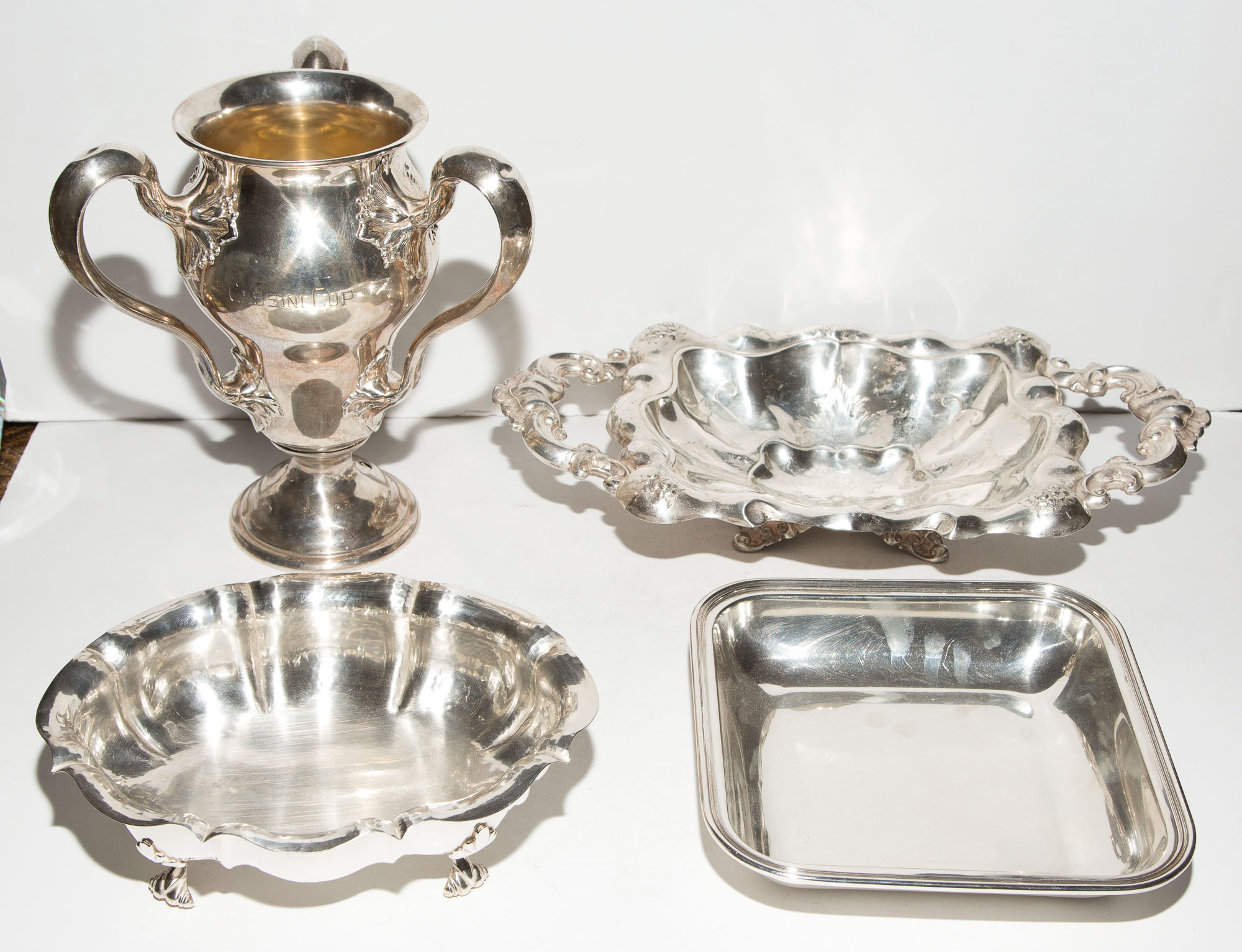 Lot image - Group of Four Silver Table Articles