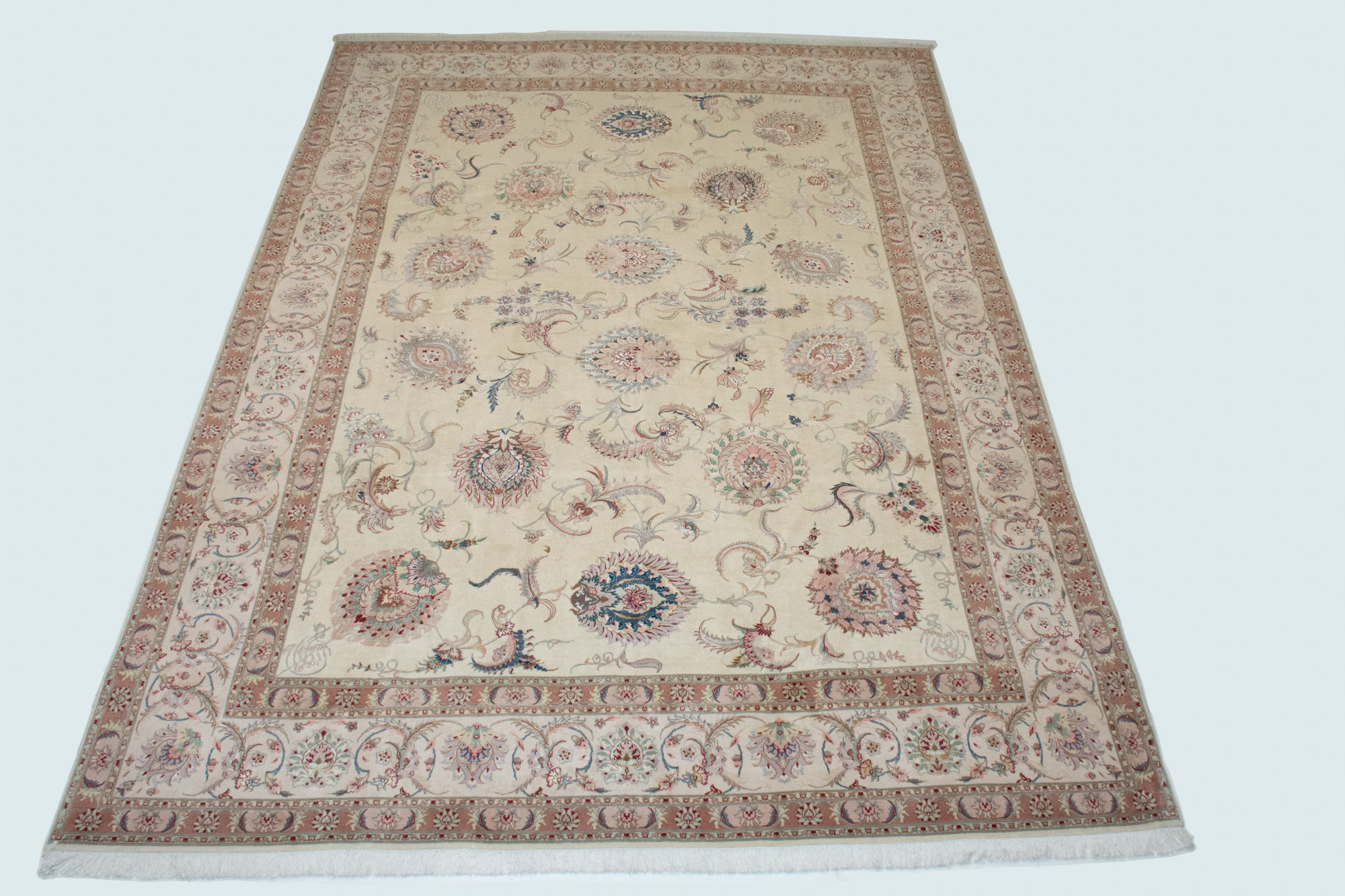 Lot image - Kurkwool and Silk Tabriz Carpet