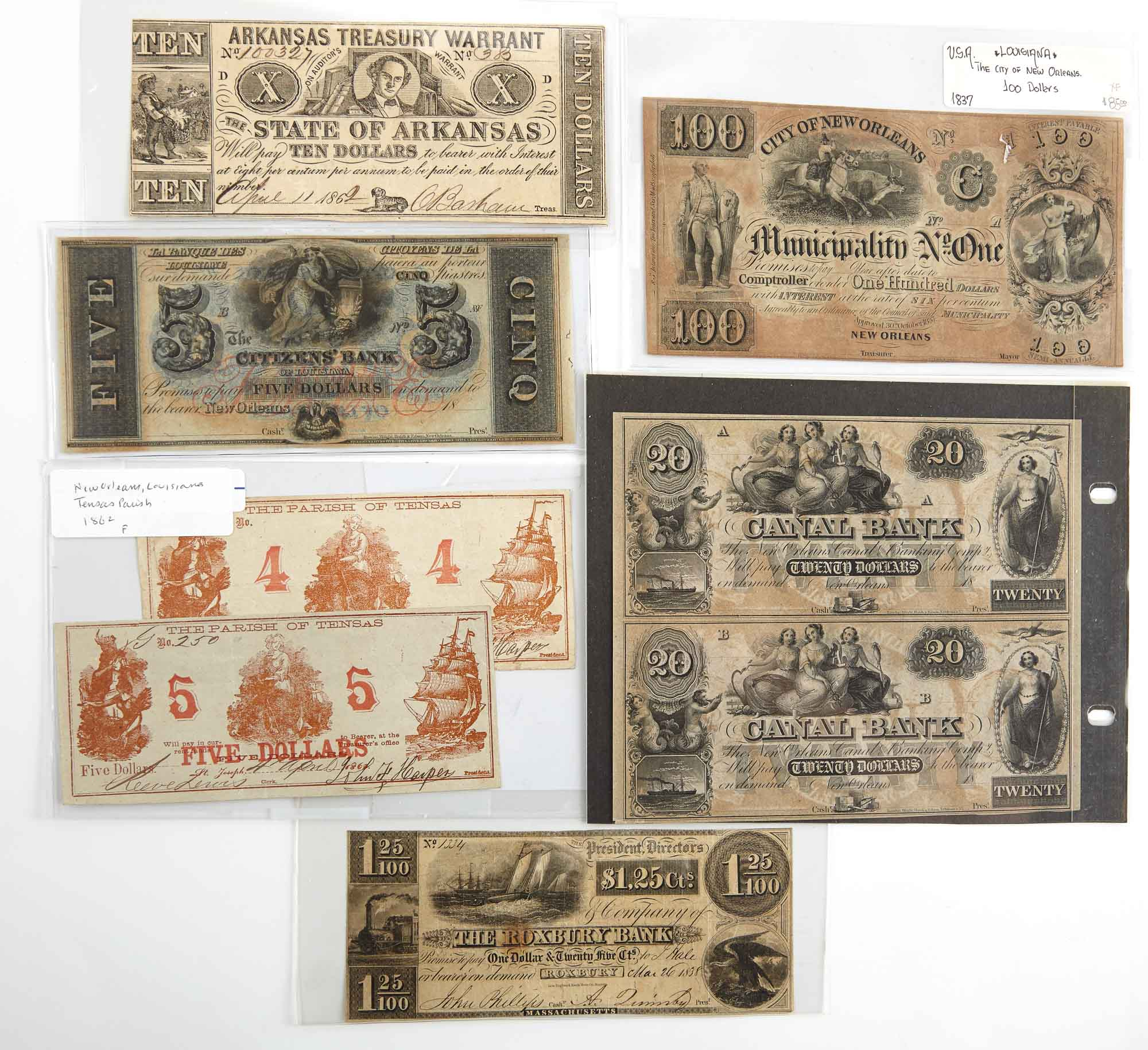 Lot image - United States Obsolete Currency