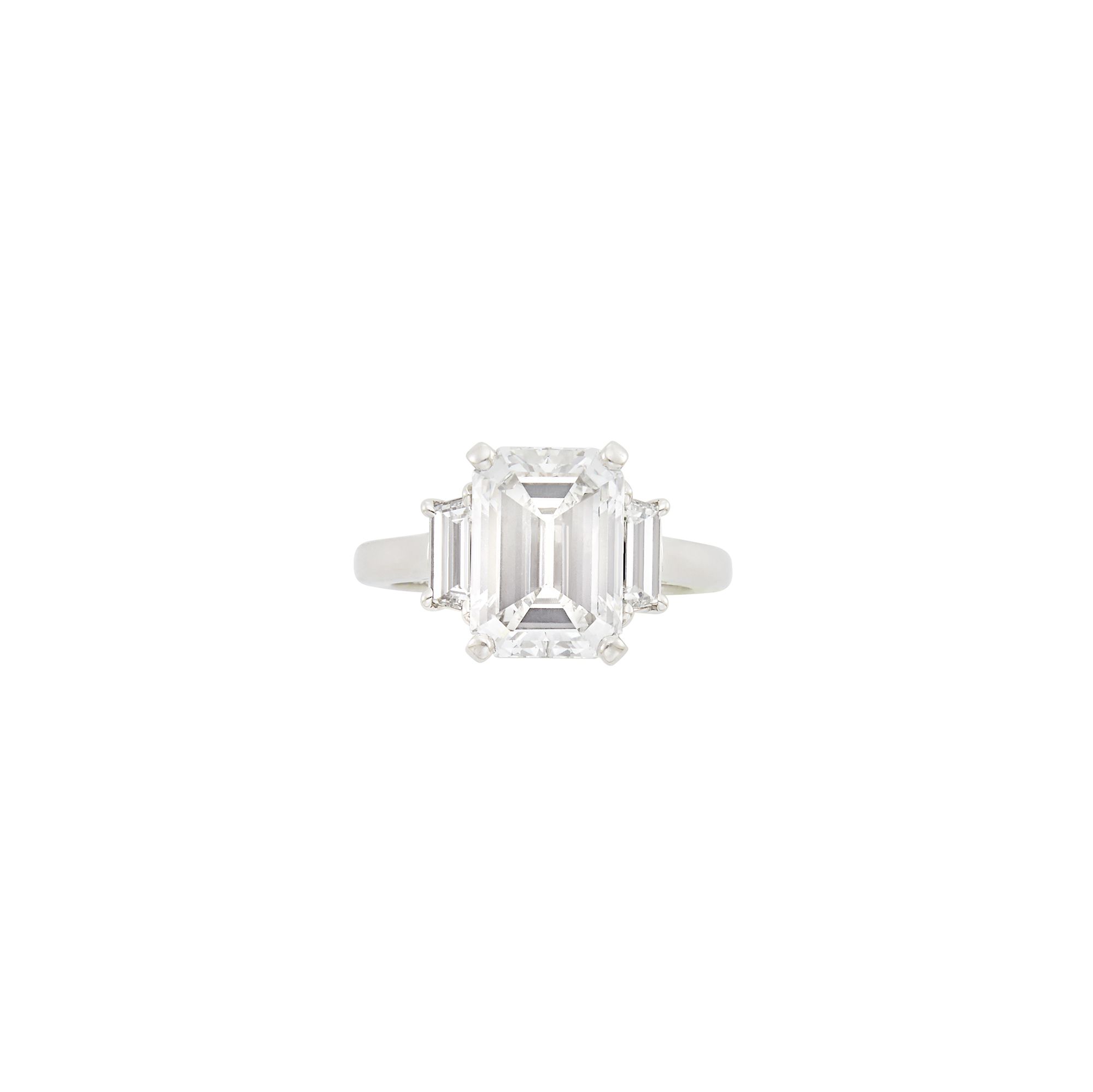 Lot image - Platinum and Diamond Ring and Band Ring, Van Cleef & Arpels