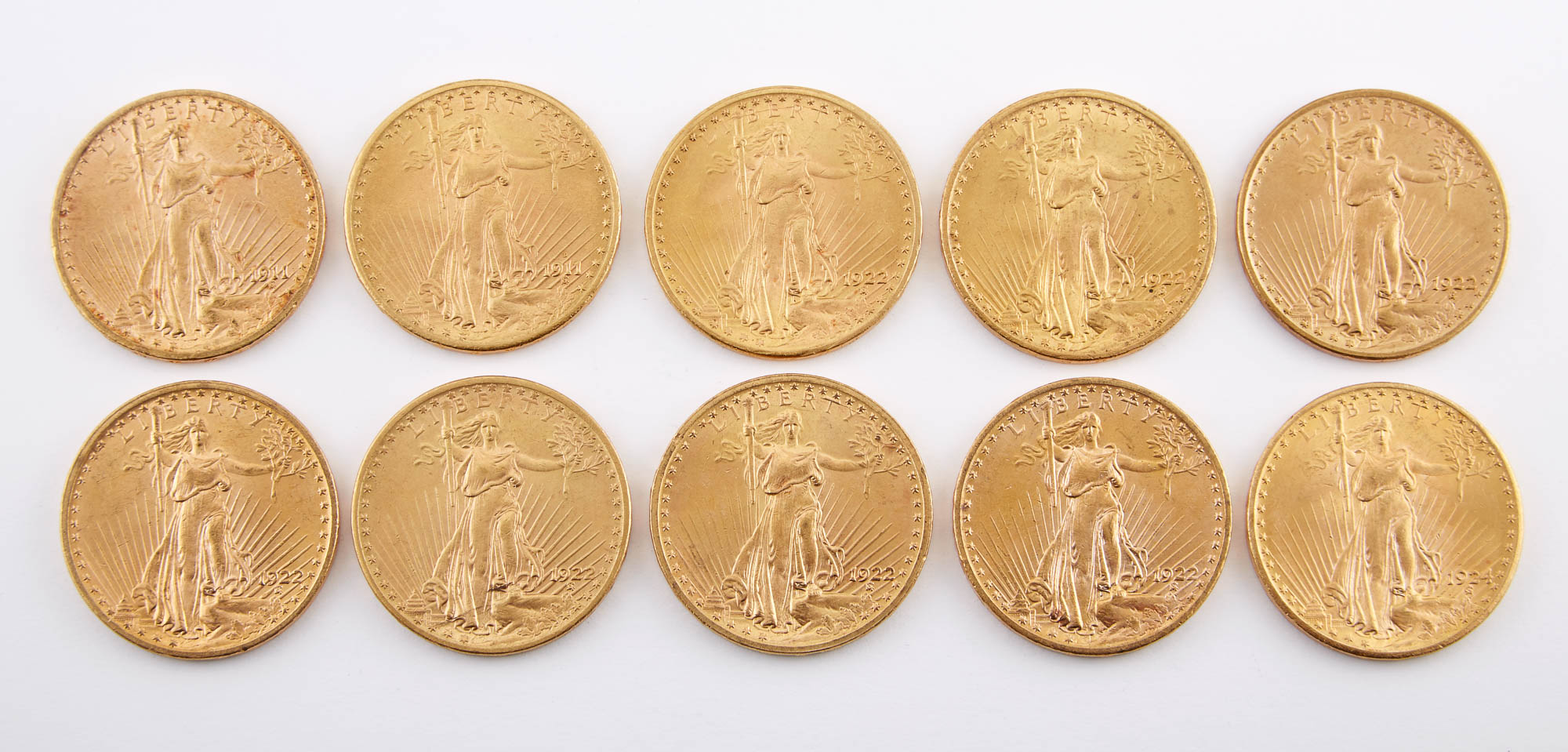 Lot image - United States St. Gaudens Group of Ten