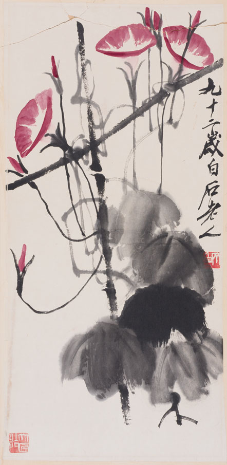 Lot image - Qi Baishi Morning Glories
