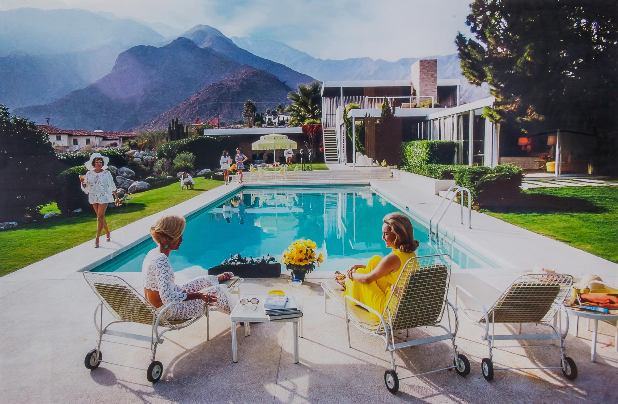 Lot image - AARONS, SLIM (1916-2006)Poolside Gossip: Lita Baron, Nelda Linsk and Helen Dzo Dzo, Palm Springs,