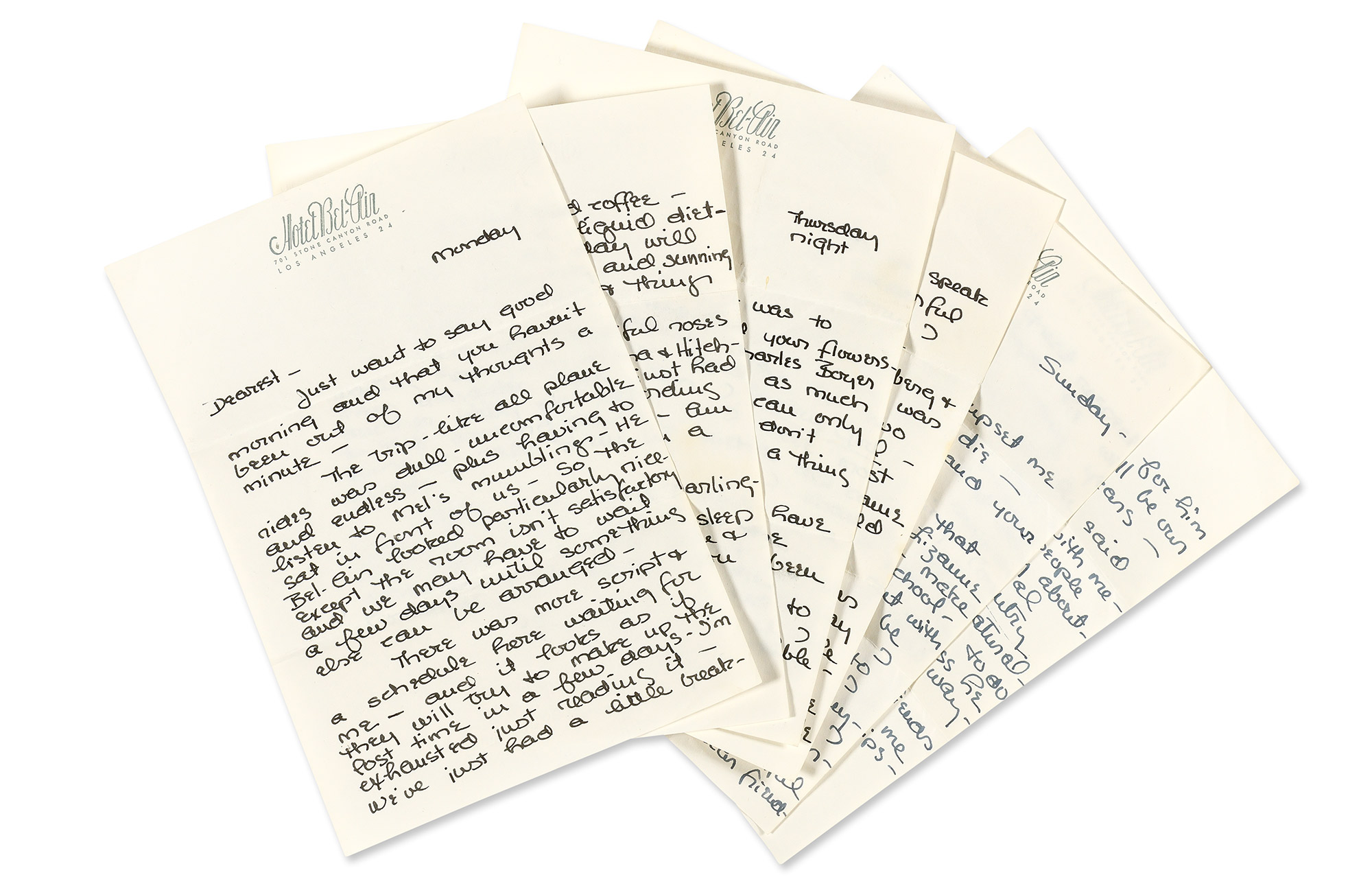 Lot image - KELLY, GRACE  Four autograph letters to Oleg Cassini.
