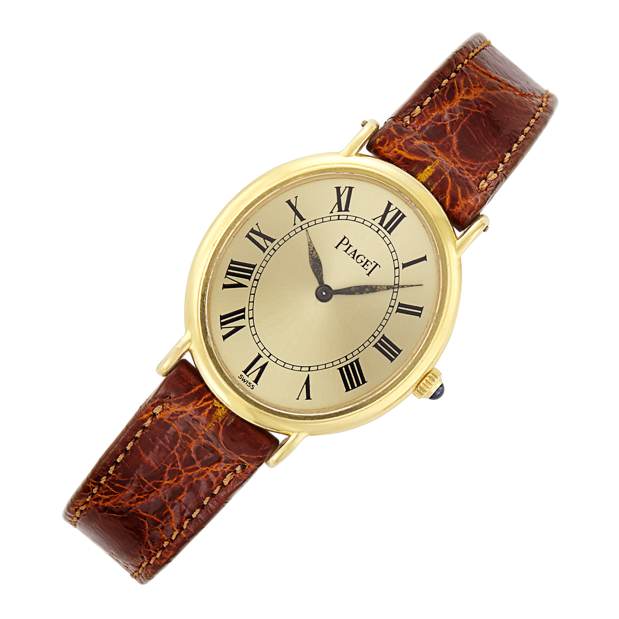 Lot image - Piaget, Gold Wristwatch, Ref. 639