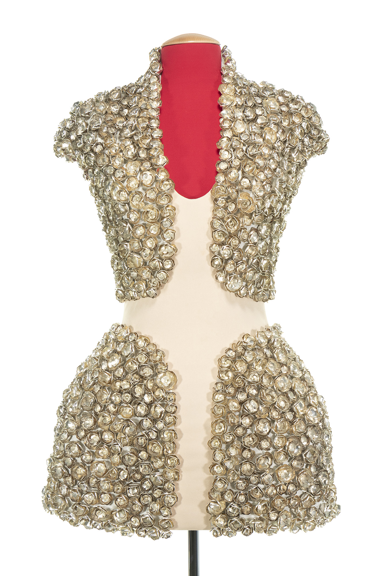 Lot image - Knit Nude Body Four-Panel Mini-Dress, Natural Distinction, Unnatural Selection, Spring-Summer, 2009