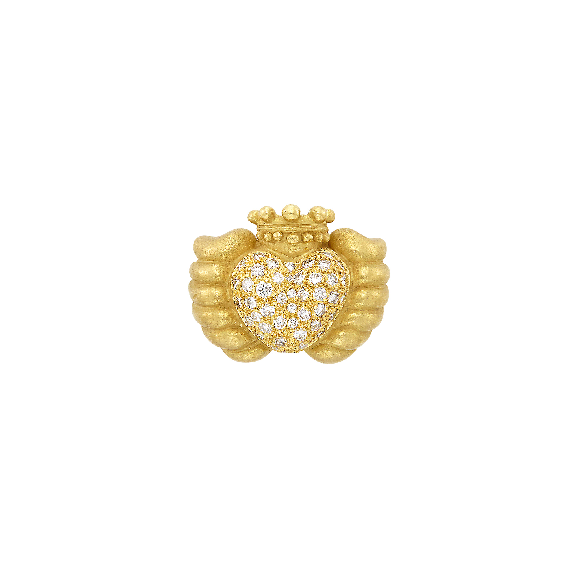 Lot image - Gold and Diamond Claddah Ring, Vahe Naltchayan