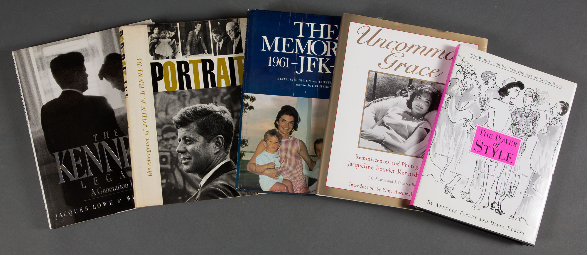 Lot image - [THE KENNEDYS]  Group of books on Jacqueline  Kennedy.